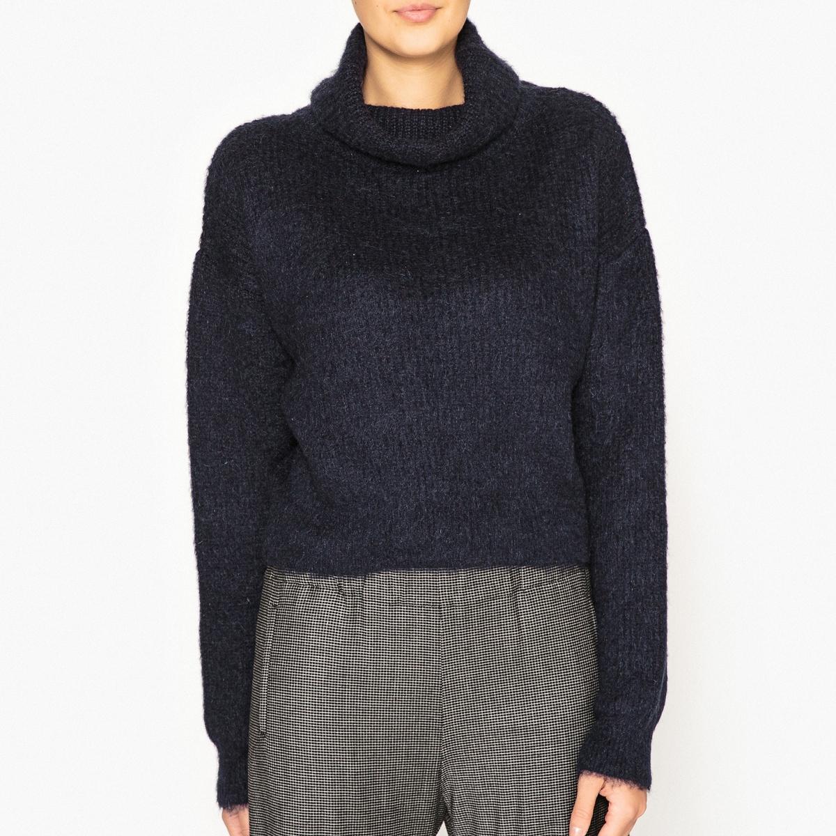 Пуловер с завёрнутым воротником пуловер свободный с воротником с отворотом plunkett