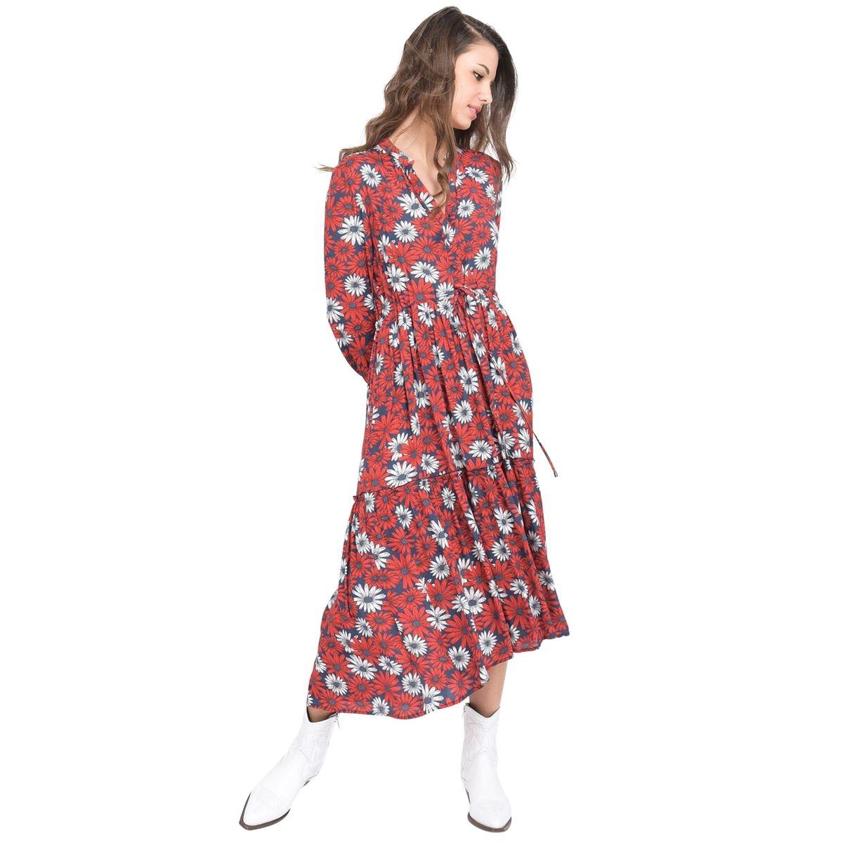 Robe longue imprimé marguerites