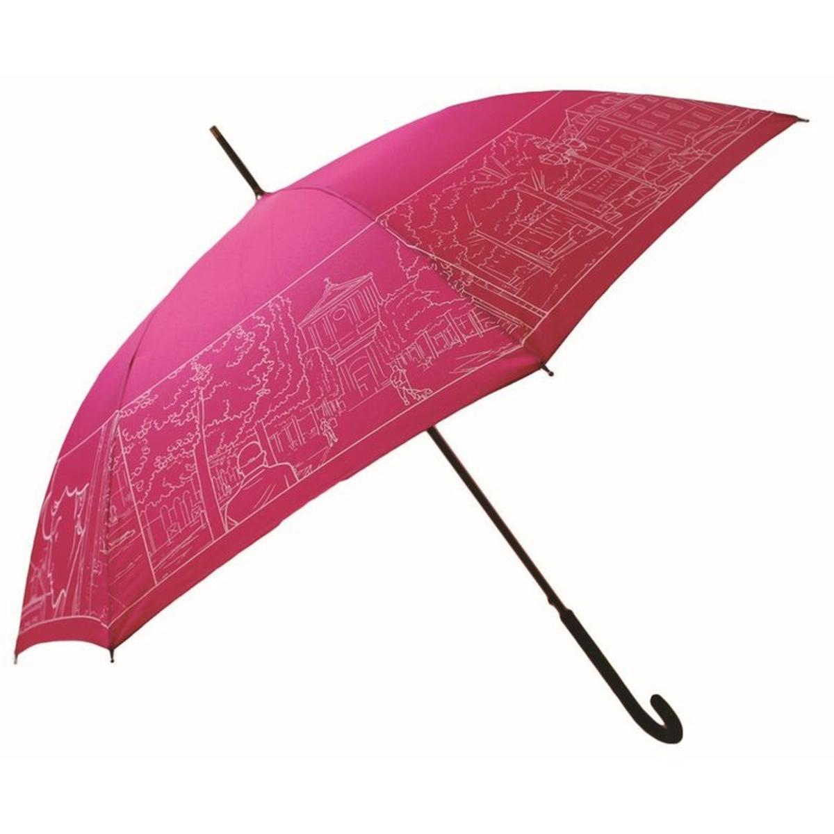 Parapluie Dans l air du temps - Uni - Motif en bordure