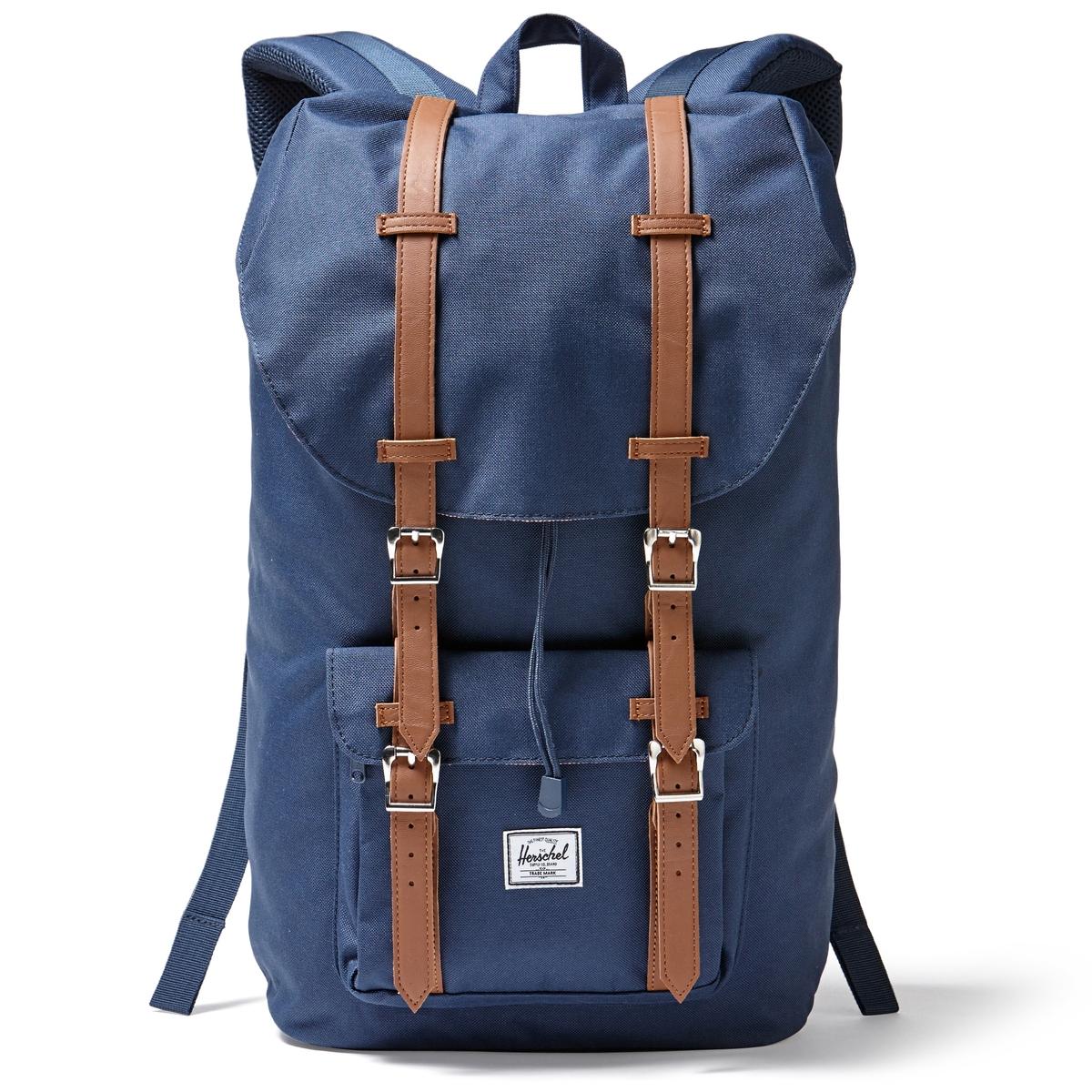 Рюкзак LITTLE AMERICA 25Л с карманом для ноутбукаОписание:Рюкзак HERSCHEL. 100% полиэстер. Регулируемые ручки. Небольшой внешний карман. Застежка на магниты. Внутреннее отделение для ноутбука.Размеры : 28 x 13 x 45 см.<br><br>Цвет: темно-синий