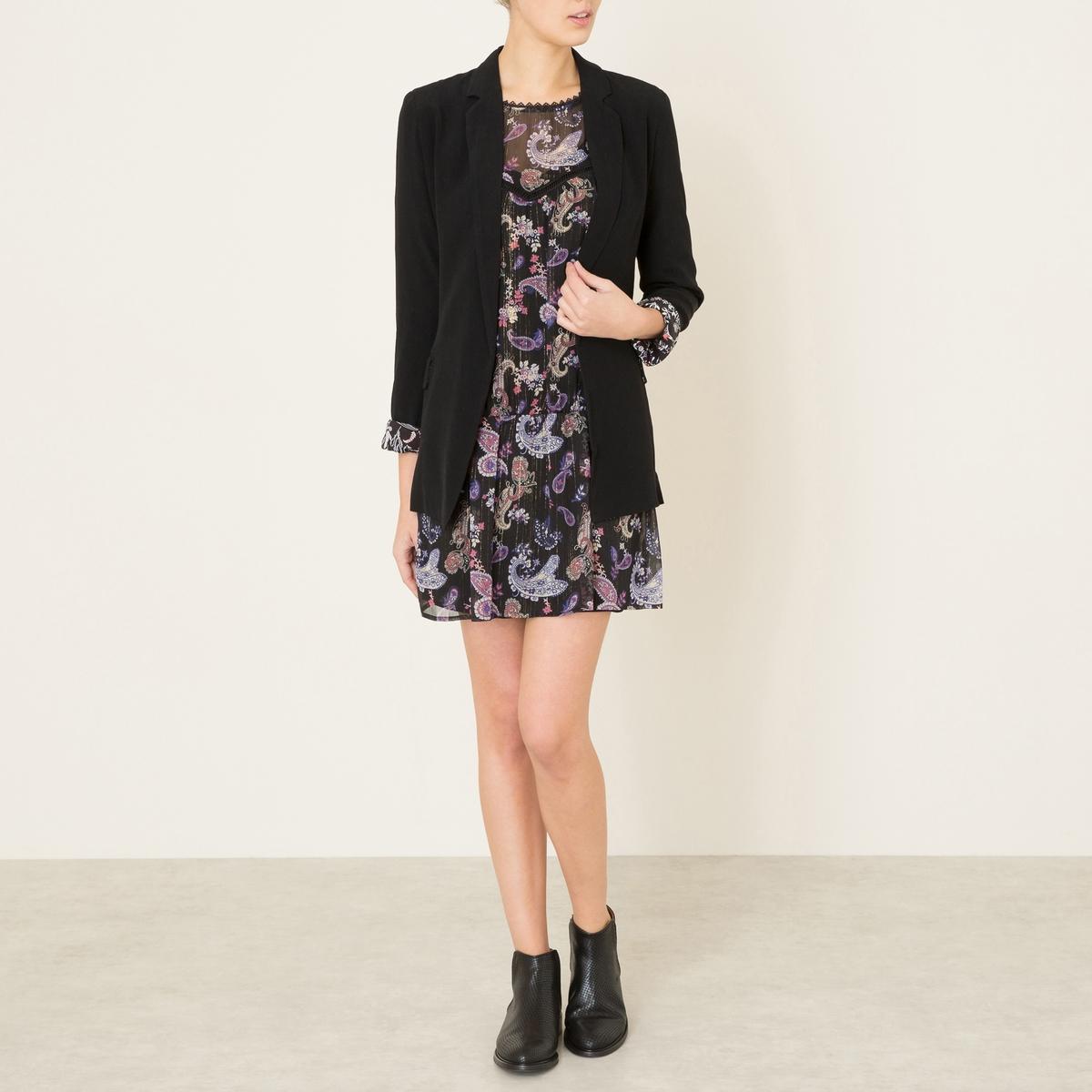 Платье OCTANСостав и описание :Материал : 100% полиэстерПодкладка 100% вискозаДлина : 85 см. (для размера 36)Марка : BERENICE<br><br>Цвет: черный<br>Размер: 42 (FR) - 48 (RUS)