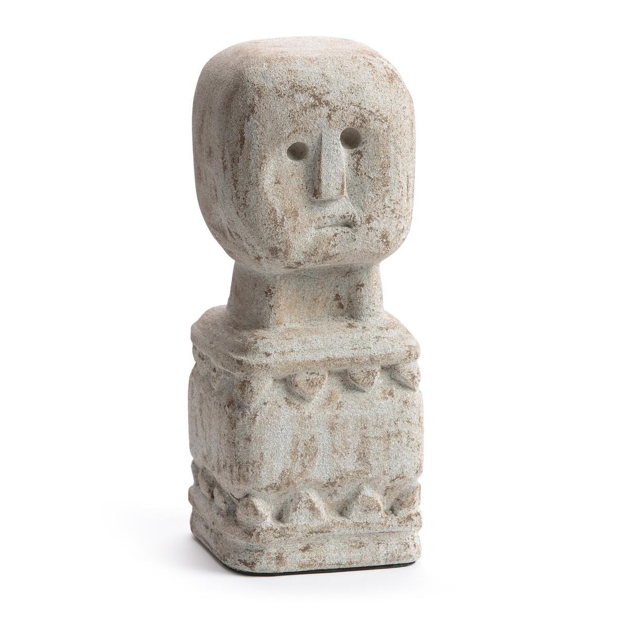 Статуэтка из камня, В.30 см, Aph?lieСтатуэтка Aph?lie. По традиции островов Тимор, эту статуэтку размещают на верхнюю часть дома для его защиты. В ваш интерьер она привнесет нотку экзотики и шика . Из камня, покрытого светлым порошком . Размеры : Ш.12 x В.30 x Г.12 см.<br><br>Цвет: каштановый