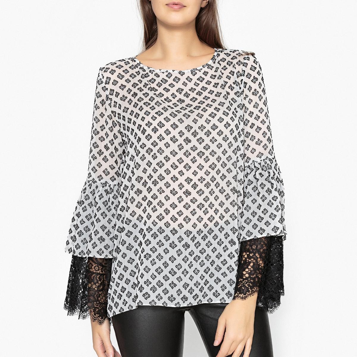 Блузка с длинными расклешенными рукавами RESO