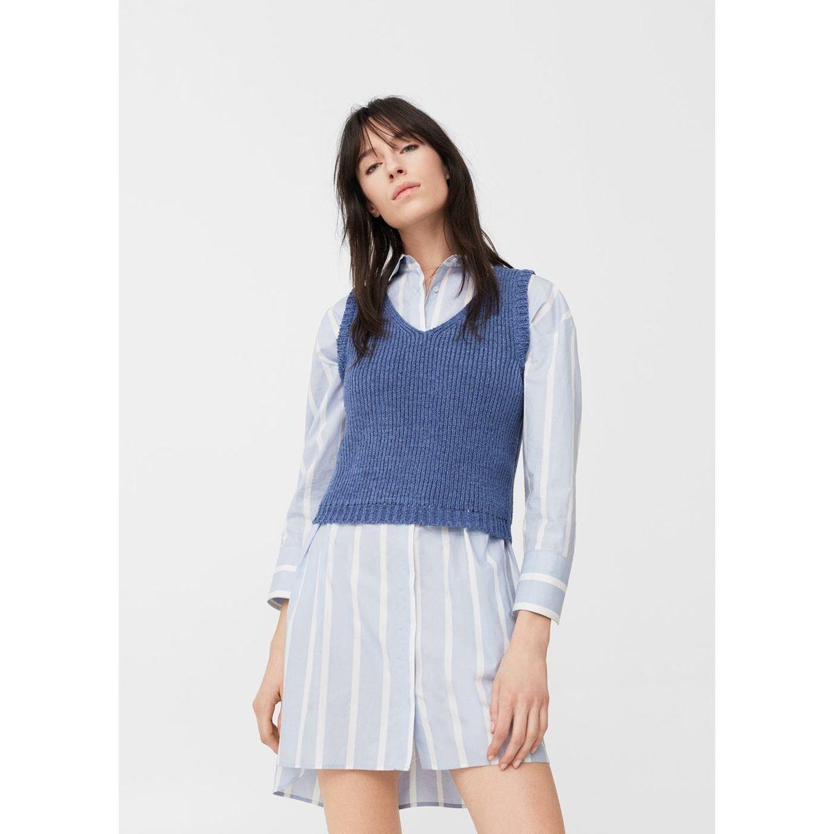 Top maille ouverture - feminin - bleu;rose - mango