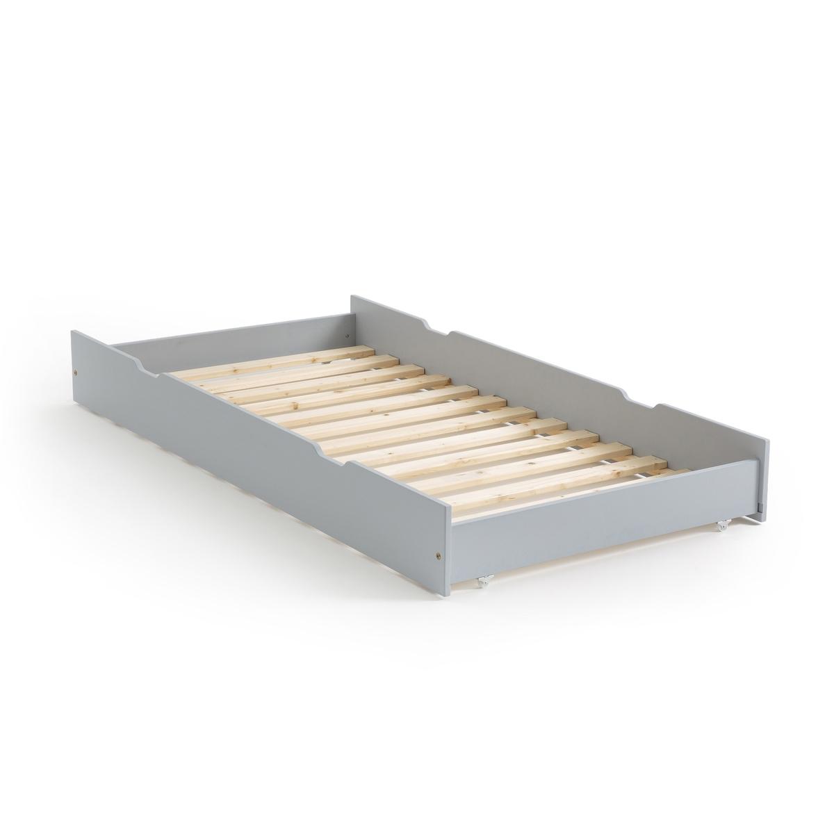 Ящик LaRedoute Для кровати из массива сосны Loan единый размер серый матрас laredoute с поролоном для кровати ящика 90 x 180 x 12 красный