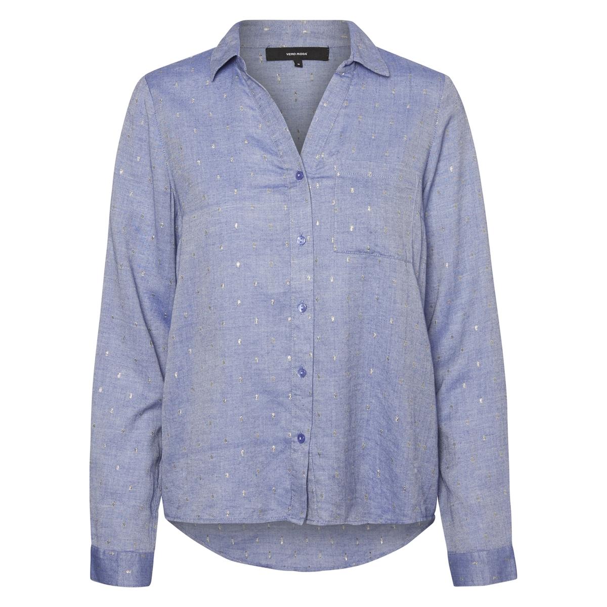 Рубашка с воротником-поло и рисункомДетали •  Длинные рукава •  Прямой покрой  •  Воротник-поло, рубашечный  •  Рисунок-принтСостав и уход •  98% хлопка, 2% других волокон •  Следуйте советам по уходу, указанным на этикетке<br><br>Цвет: розовый меланж,синий шамбре<br>Размер: XL.L.S