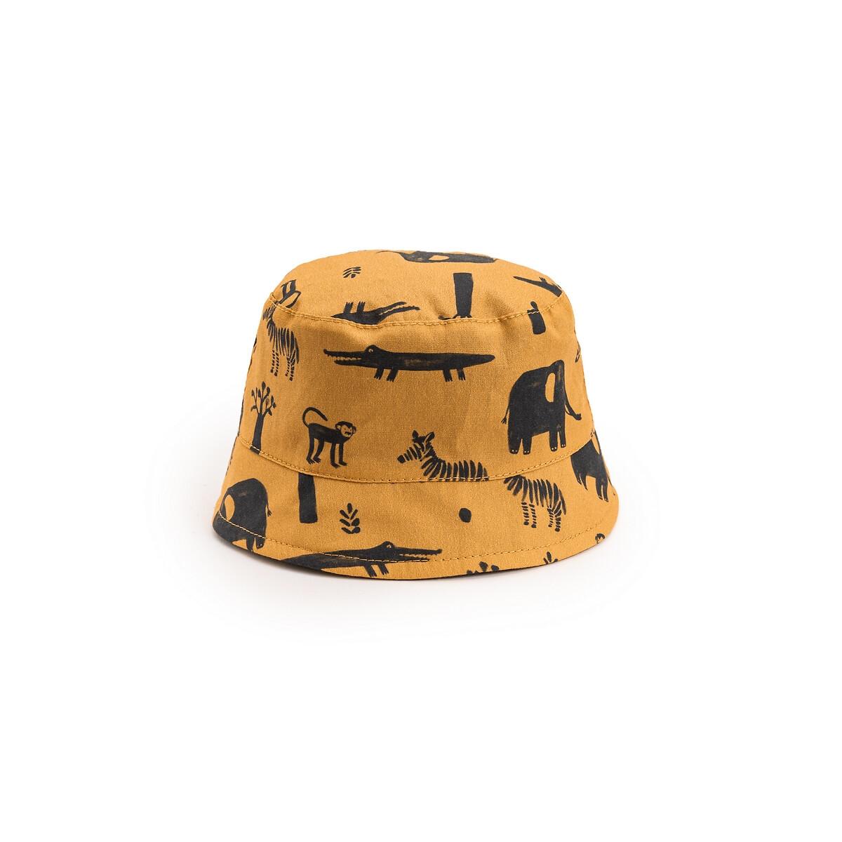 Фото - Шляпка LaRedoute Двусторонняя 0 мес - 3 года 0/3 мес. - 50/60 см желтый брюки laredoute из мольтона с бантом 1 мес 3 года 9 мес 71 см розовый