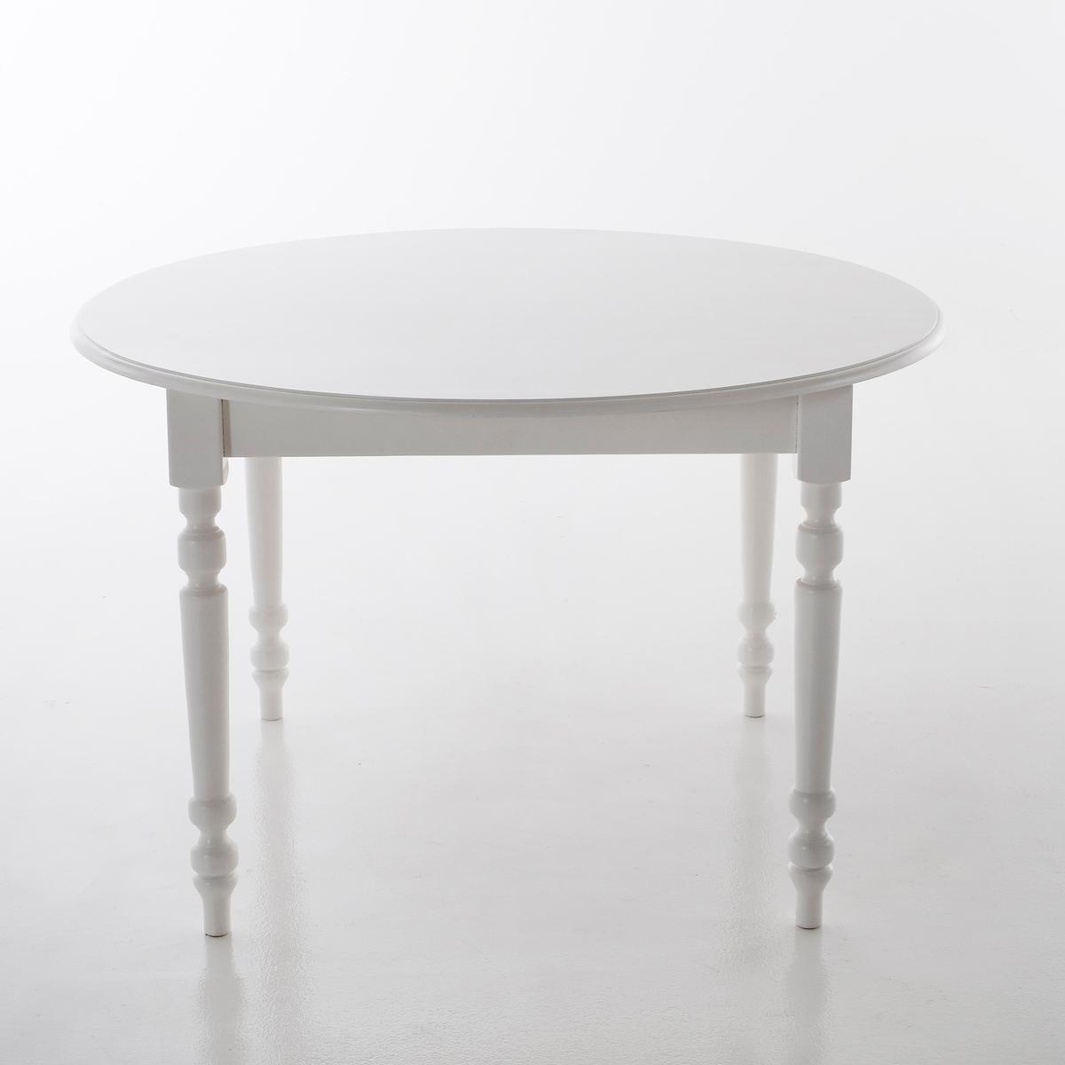 Стол LaRedoute Обеденный круглый на 4 персоны Authentic Style 4 персоны белый круглый laredoute стол на 4 8 персон authentic style 8 персоны белый