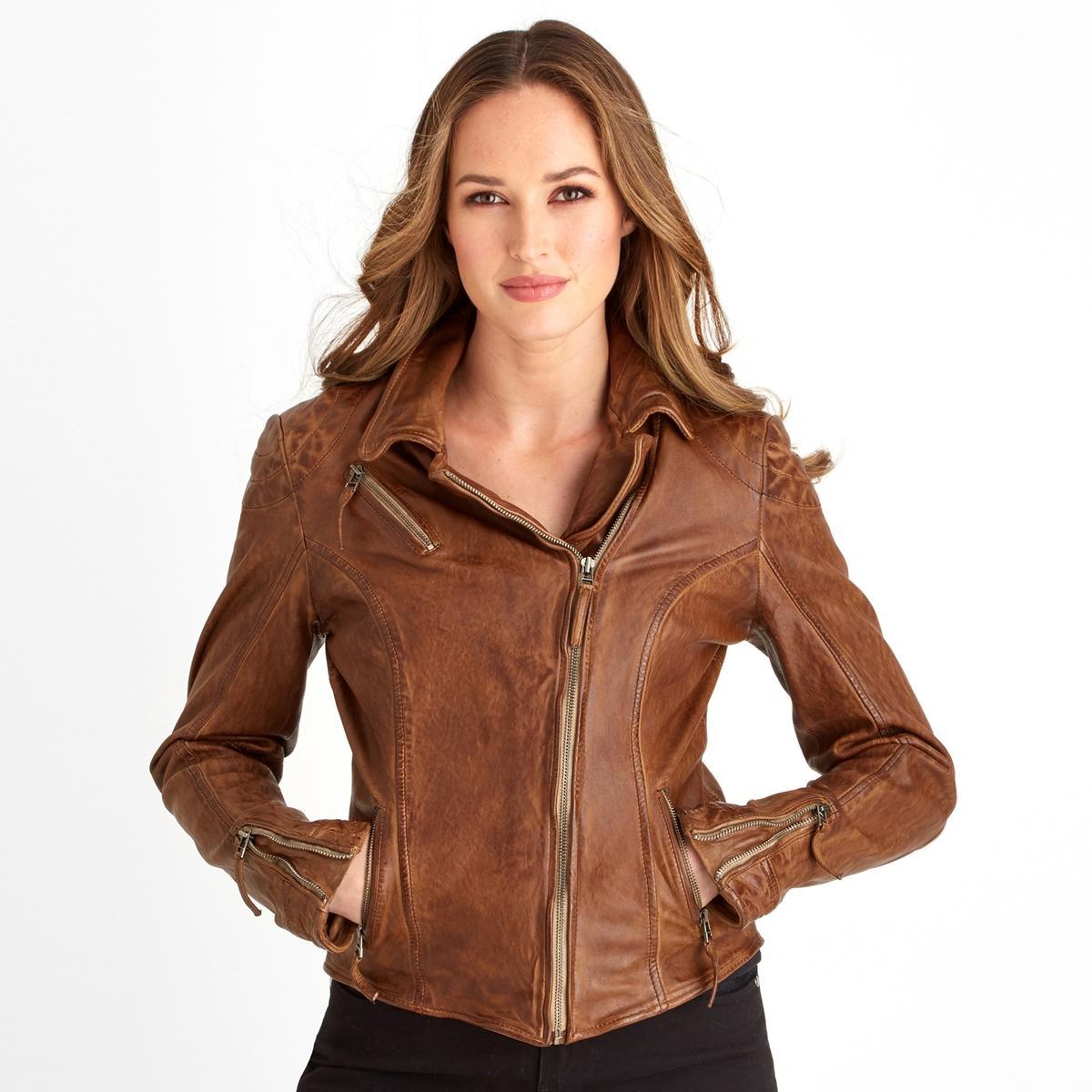 Куртка укороченная с застежкой на молнию, демисезонная