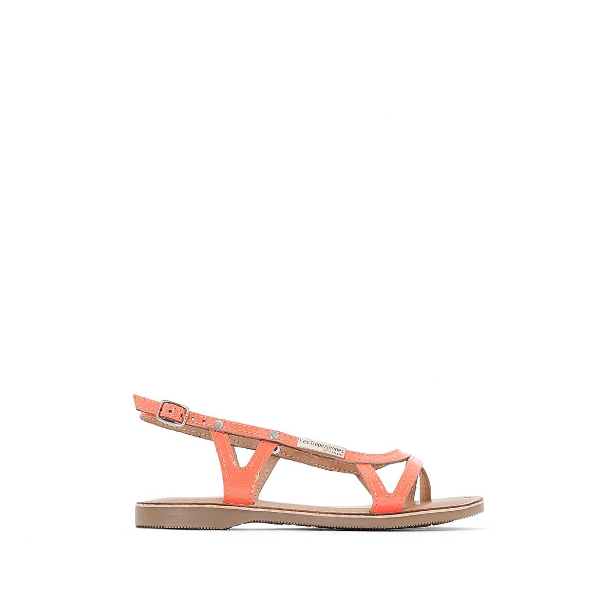 Босоножки на плоской подошве из кожи женская обувь на плоской подошве 2015
