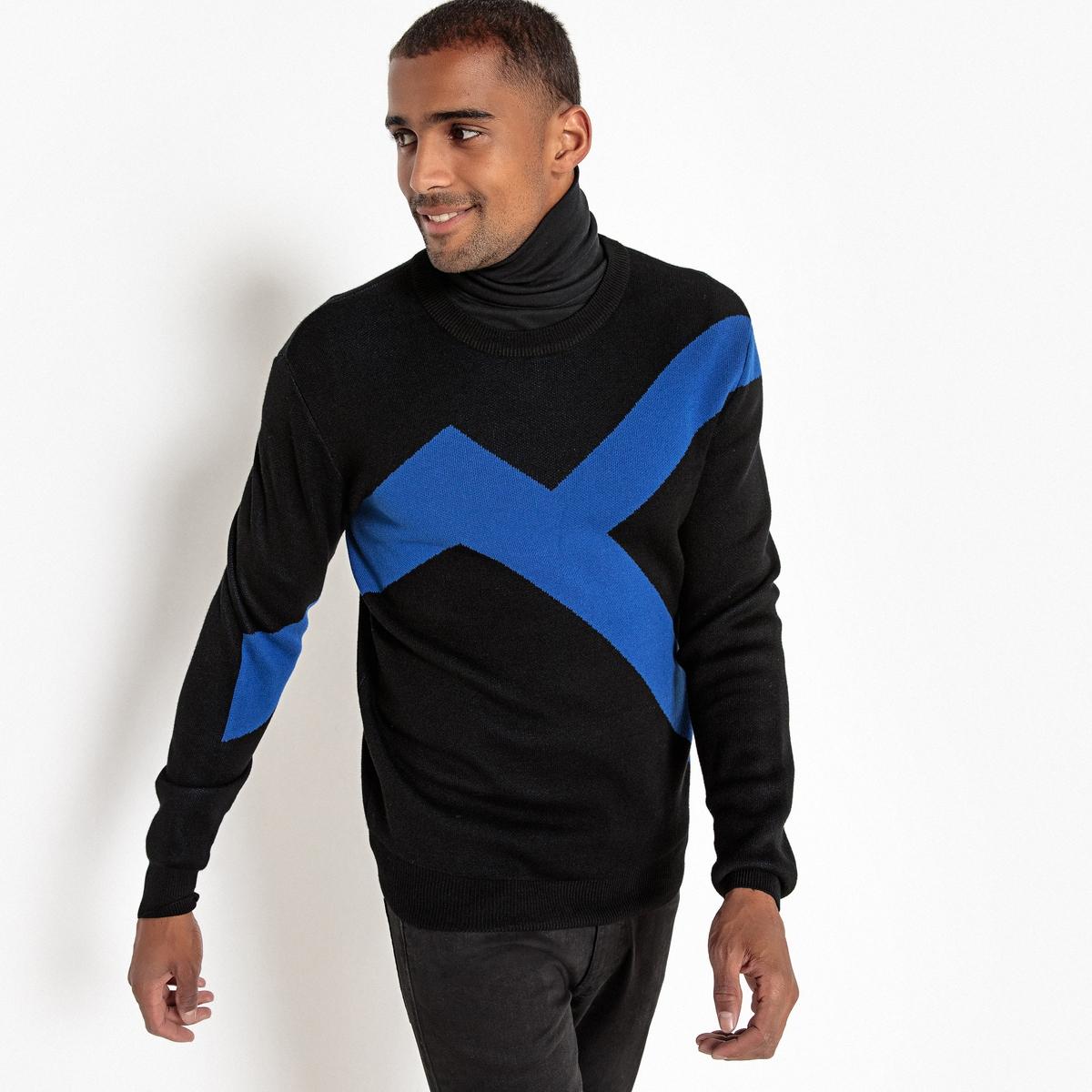 Пуловер La Redoute С круглым вырезом из тонкого трикотажа L черный свитшот la redoute с круглым вырезом и вышивкой s черный