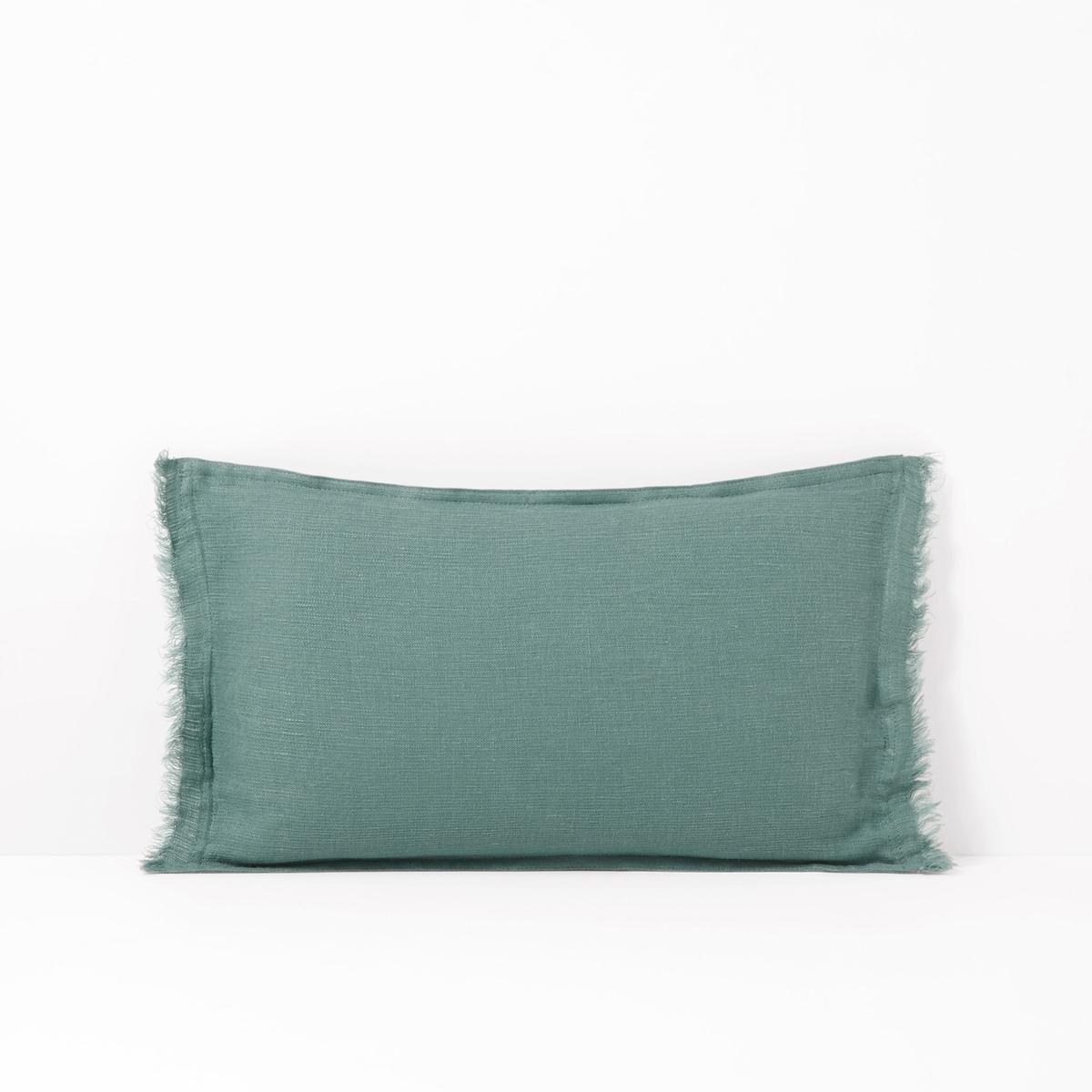 Чехол La Redoute На подушку-валик из осветленного льна LINANGE 50 x 30 см синий беляева т и отв ред противоположности настольно печатная развивающая игра 36 карточек