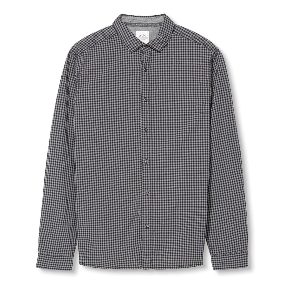 Рубашка в клетку, 100% хлопкаСостав и описание:Материал: 100% хлопка.Марка: ESPRIT.<br><br>Цвет: в клетку черный