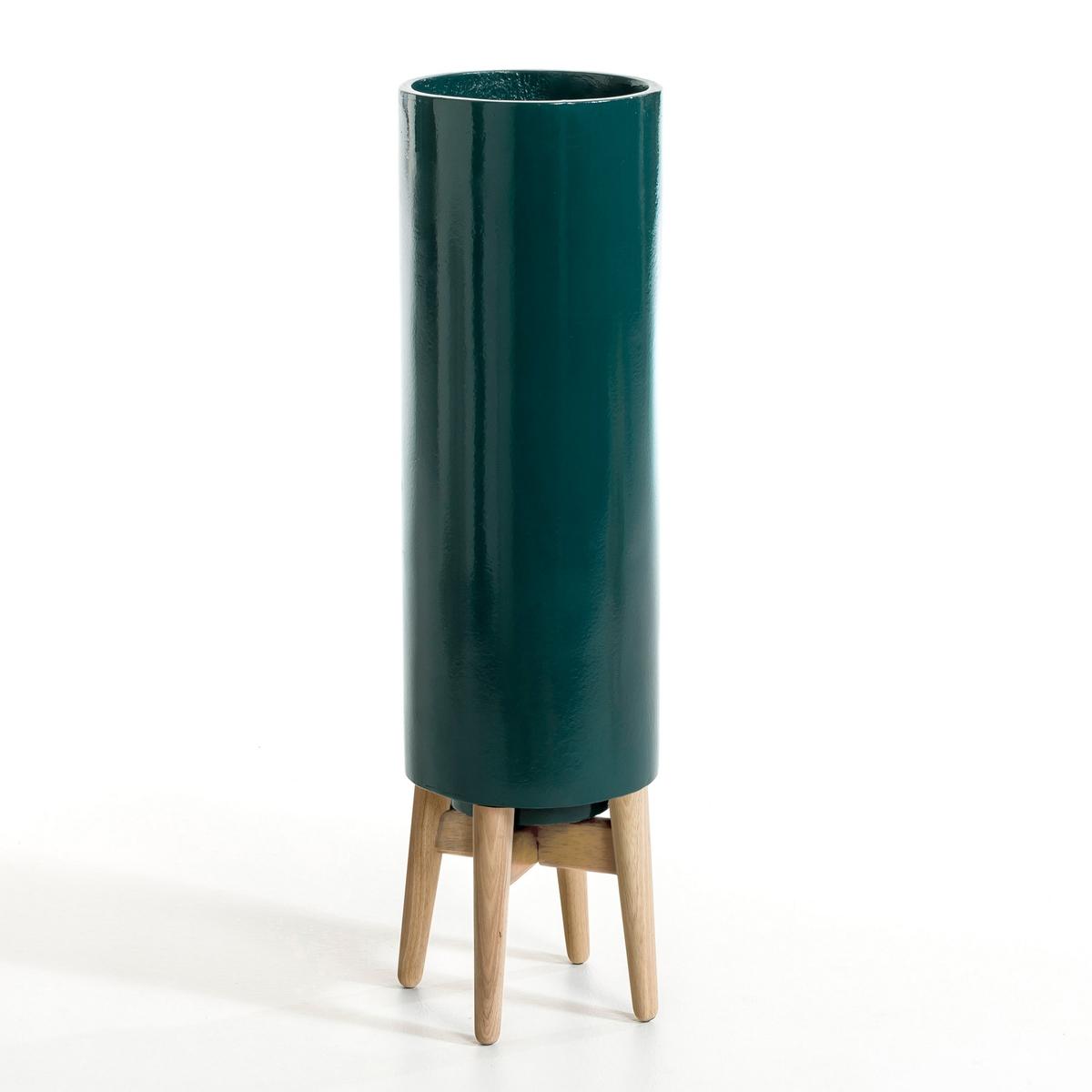 Кашпо Выс70 см, FlorianОписание : - Из керамики - Подставка из гельвеи Размеры : - ?20 x Выс70 см<br><br>Цвет: светло-синий