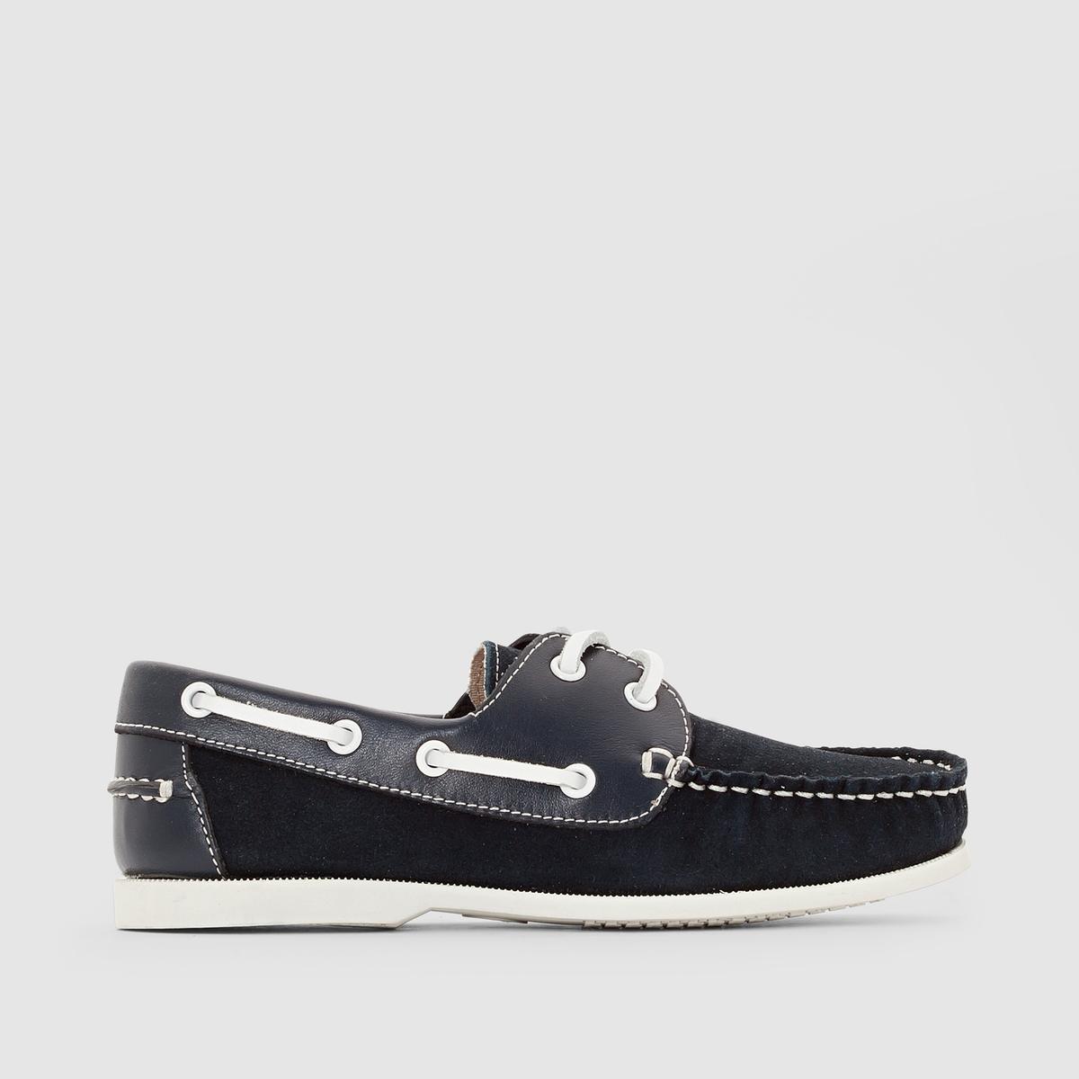 Туфли-лодочки из невыделанной яловичной кожи от La Redoute
