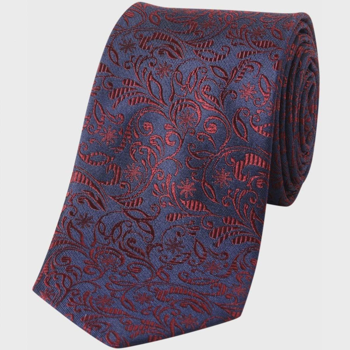 Cravate   motifs floral