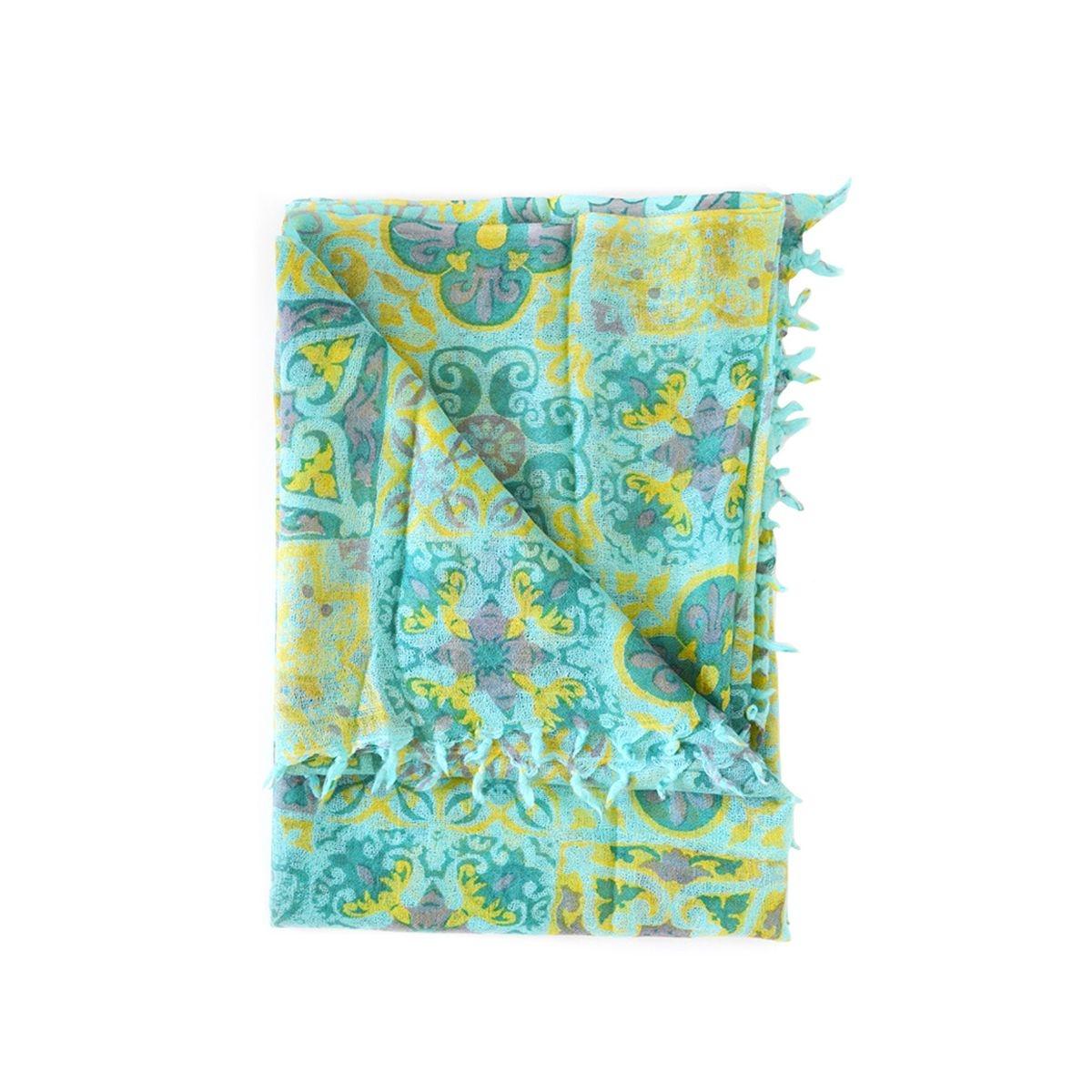 Foulard en laine  imprimé carreaux