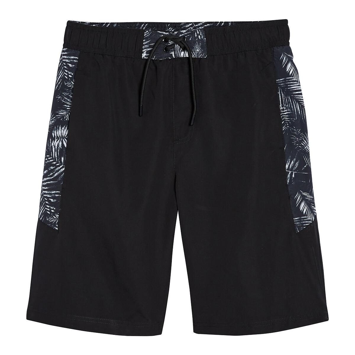 Шорты La Redoute Пляжные с рисунком 10 лет - 138 см черный шорты la redoute пляжные с рисунком 10 лет 138 см черный