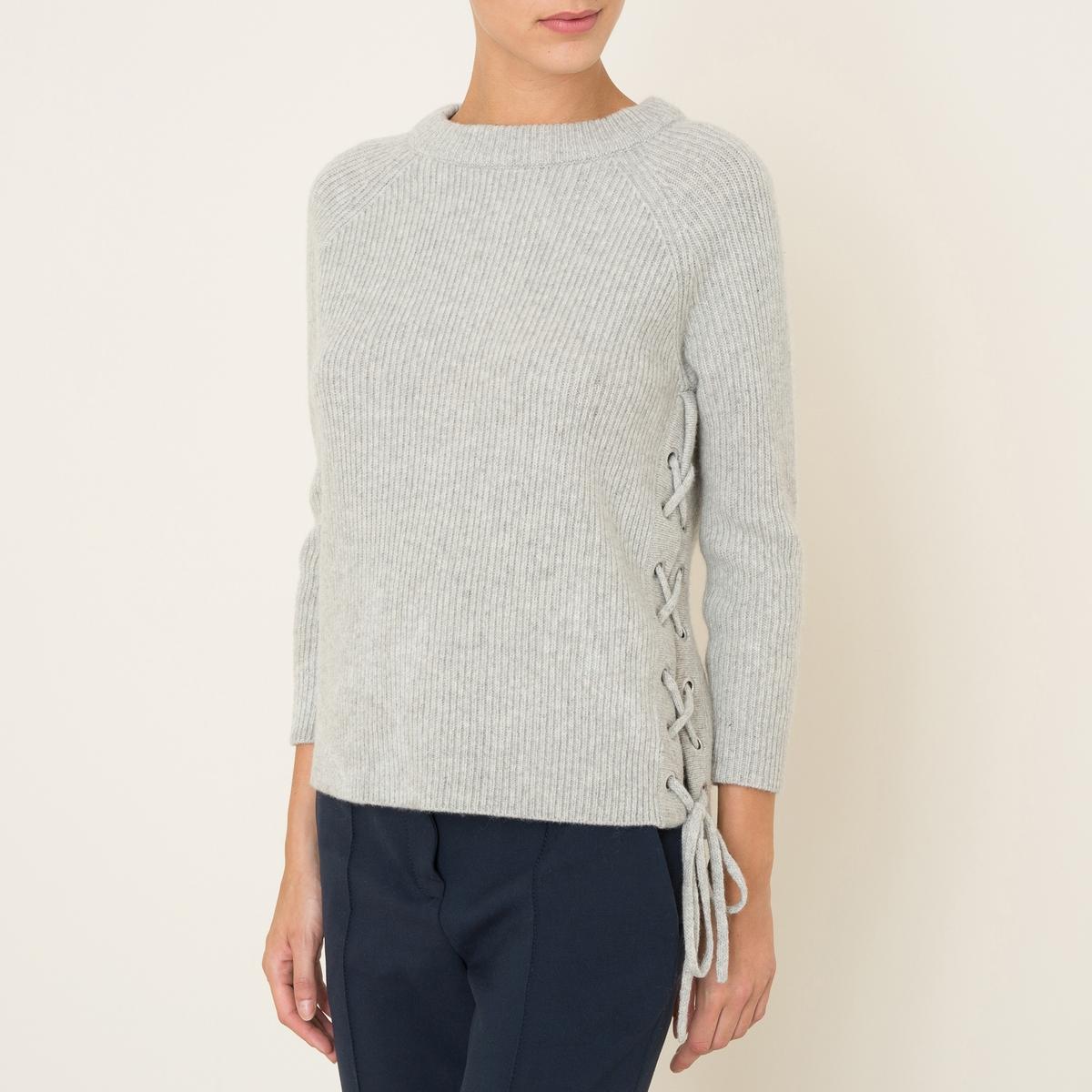 Пуловер MINUSСостав и описание    Материал : 95% шерсти, 5% кашемира   Металлические люверсы с покрытием медью   Марка : BA&amp;SH<br><br>Цвет: светло-серый,темно-синий<br>Размер: XS