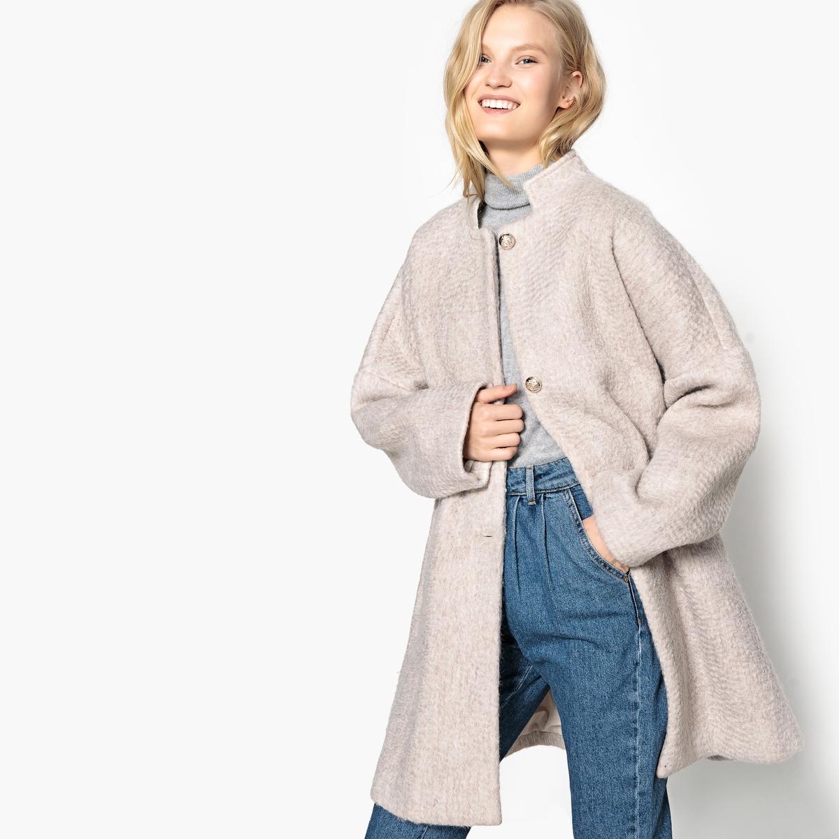 Abrigo oval de mezcla de lana