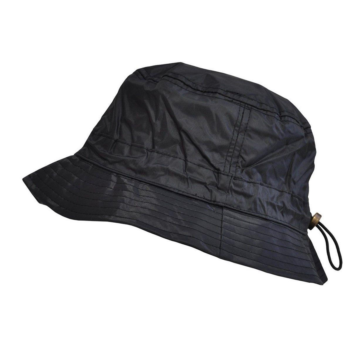 1e2c9407b0d2 TOUTACOO Bob de pluie imperméable en nylon - Ajustable Noir