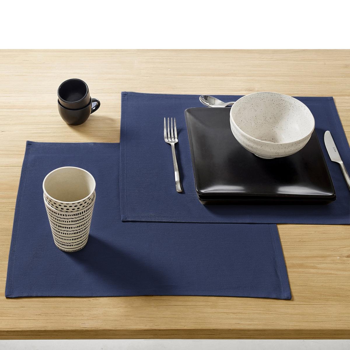 Комплект из подставок под La Redoute Приборы с обработкой против пятен единый размер синий подложка la redoute под столовые приборы tiebele шт единый размер белый