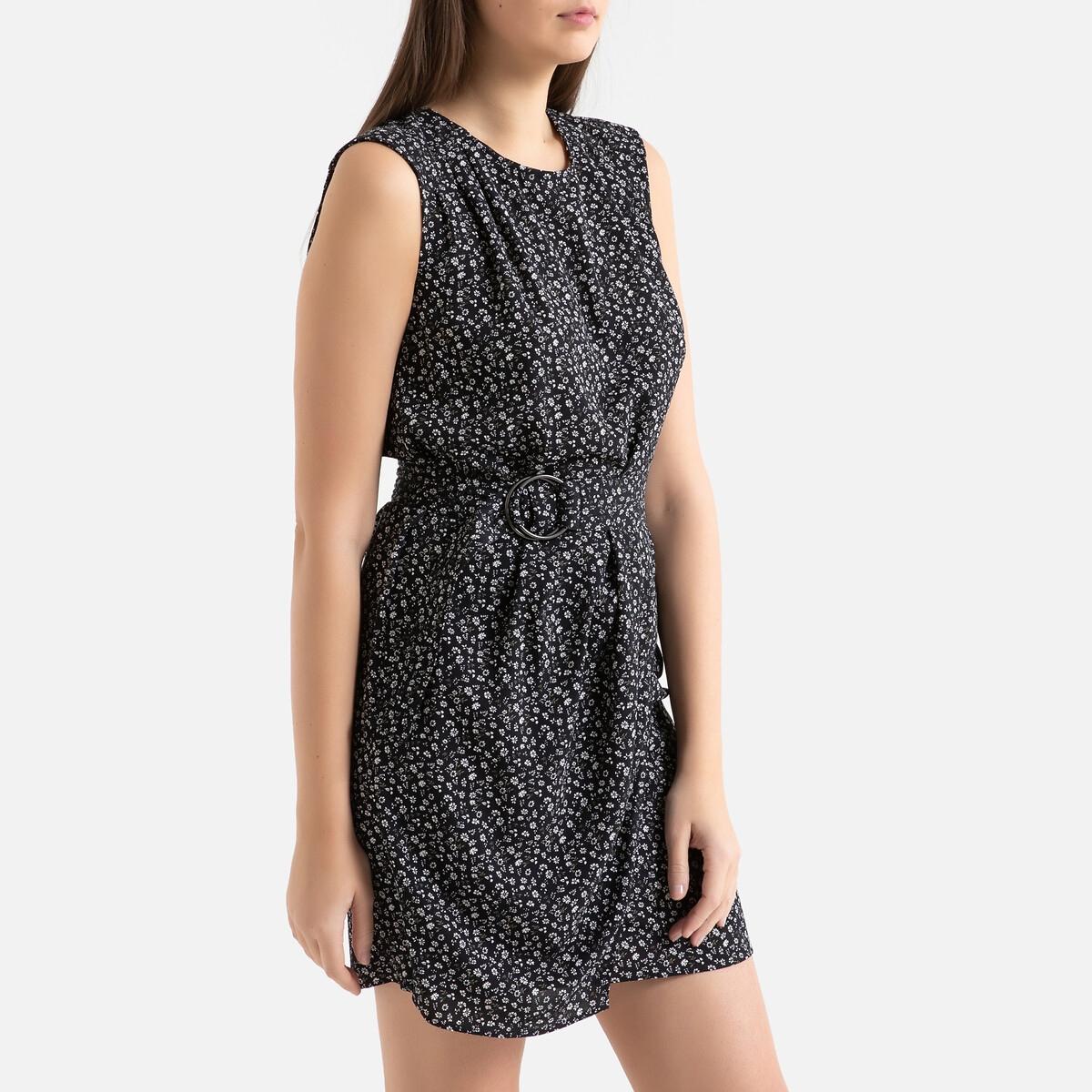 Платье La Redoute С рисунком без рукавов 40 (FR) - 46 (RUS) черный