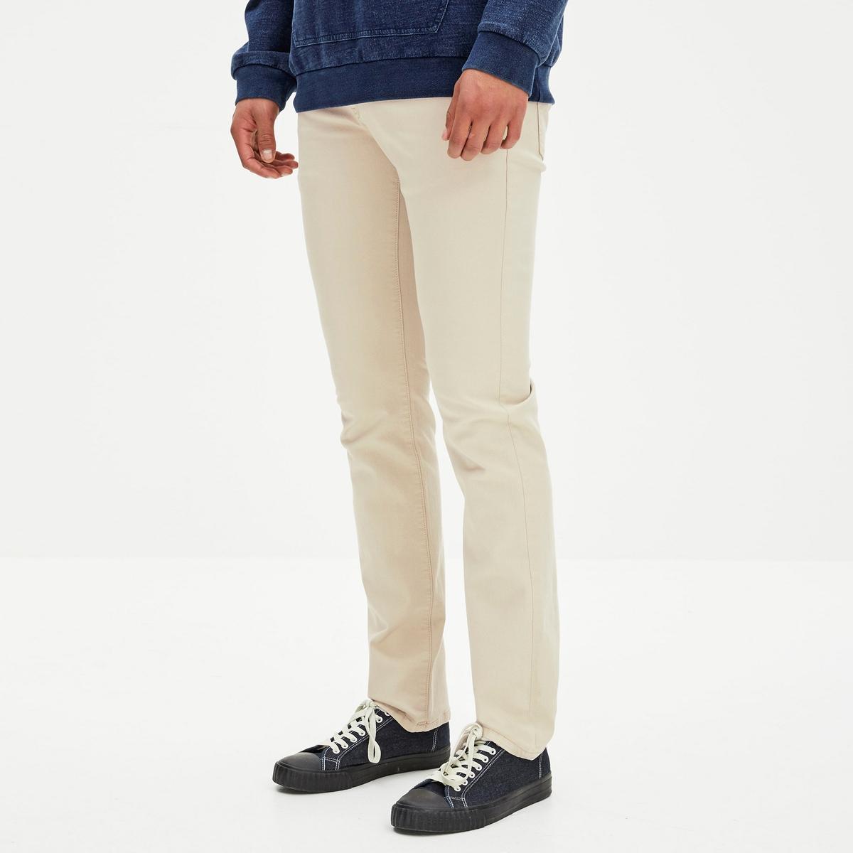 Calças corte slim en coton stretch GODOBY