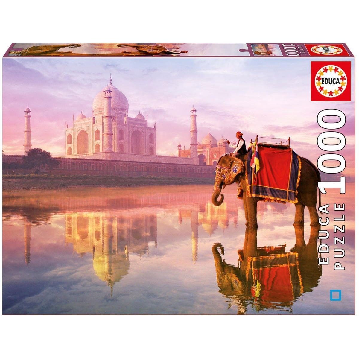 1000 Éléphant au Taj Mahal - EDU16756
