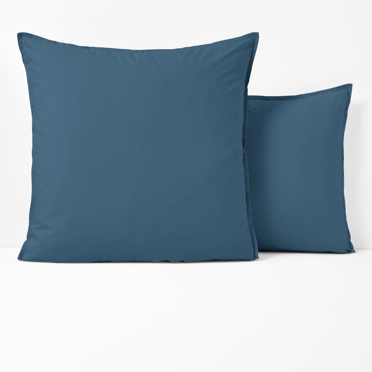 Наволочка La Redoute Из перкали из биохлопка 50 x 70 см синий наволочка la redoute flooch 50 x 30 см бежевый