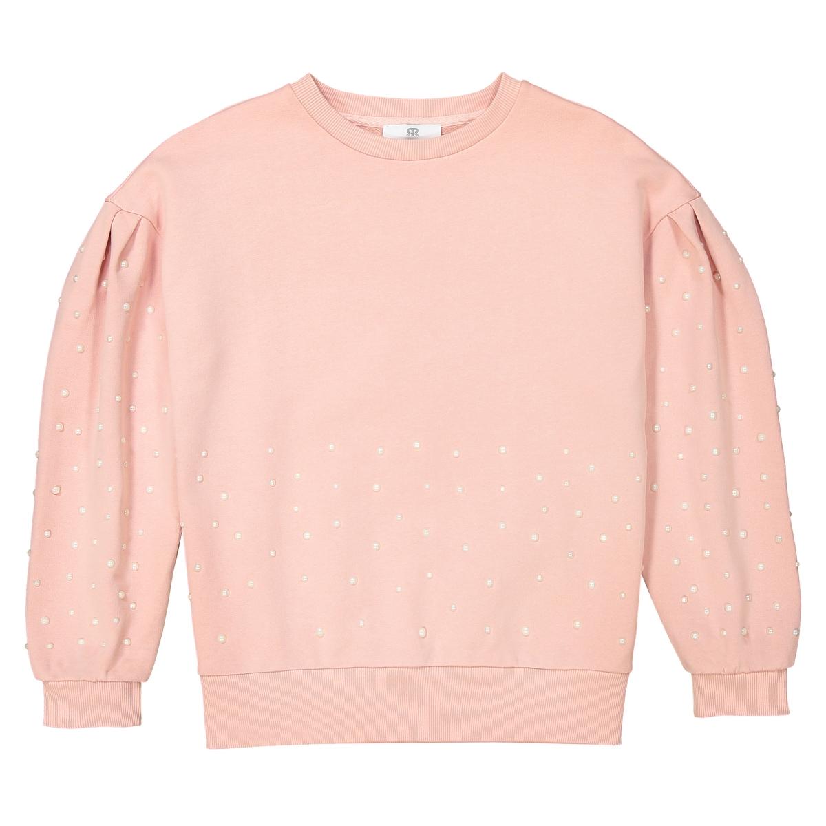 Свитшот La Redoute С капюшоном 16 лет - 162 см розовый свитшот la redoute с рисунком спереди мес лет 1 мес 54 см желтый