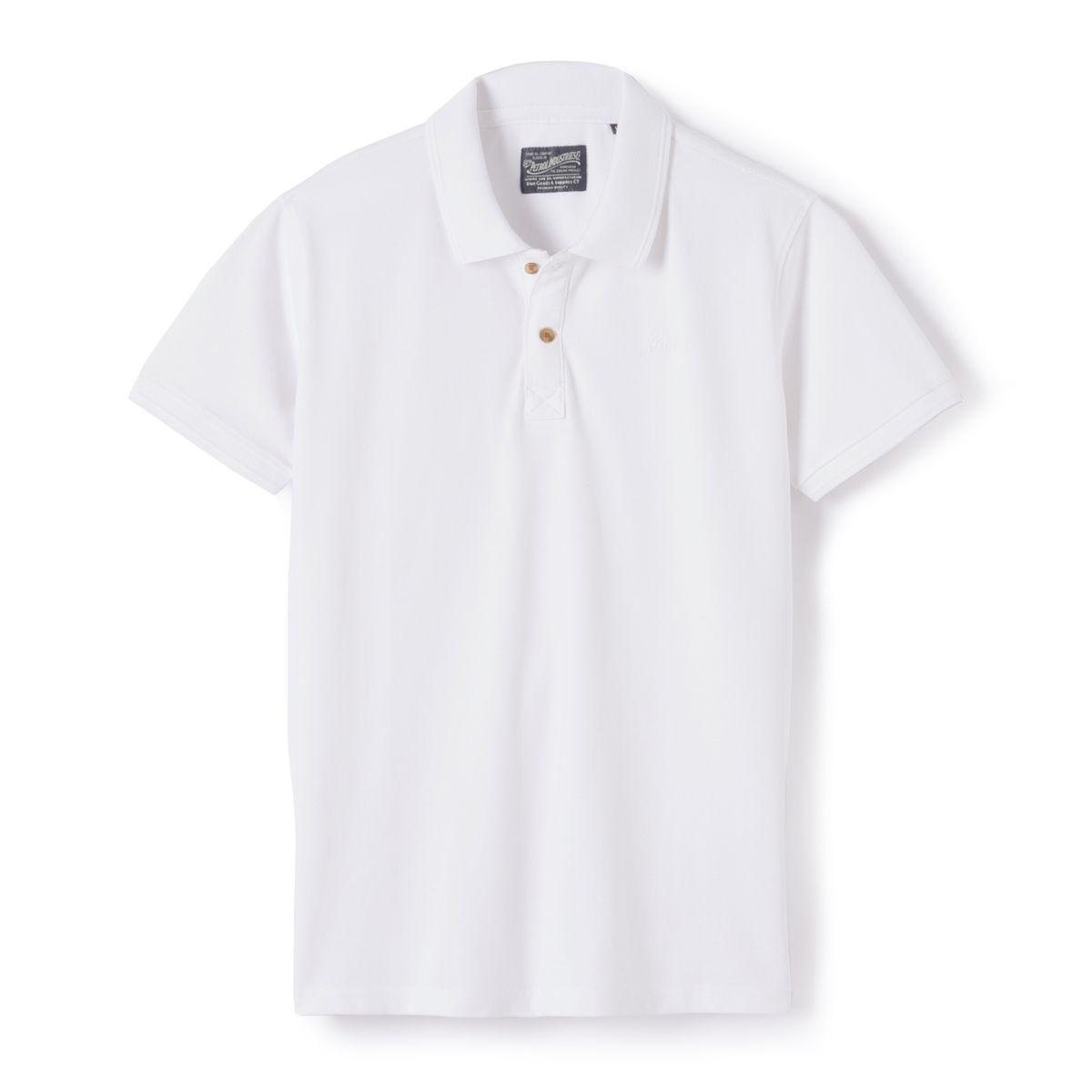 Polo avec logo brodé pur coton