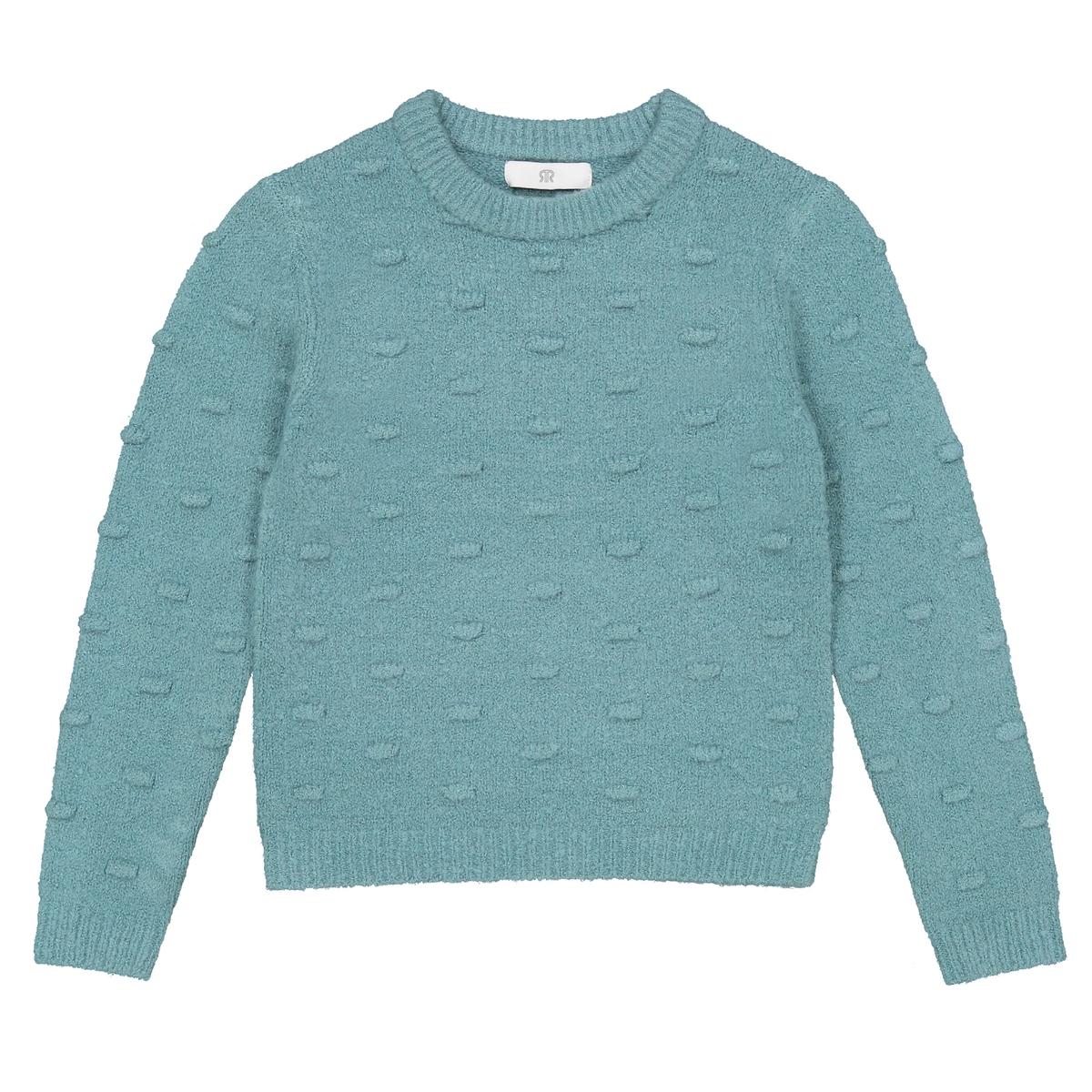 Пуловер La Redoute С круглым вырезом из плотного трикотажа 12 лет -150 см синий цена