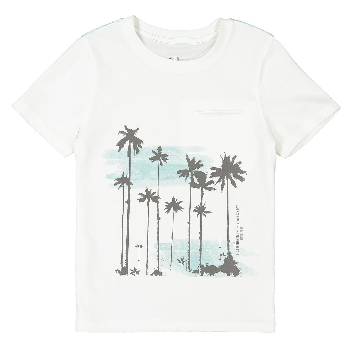 T-shirt de gola redonda, motivo palmeiras, 3-12 anos