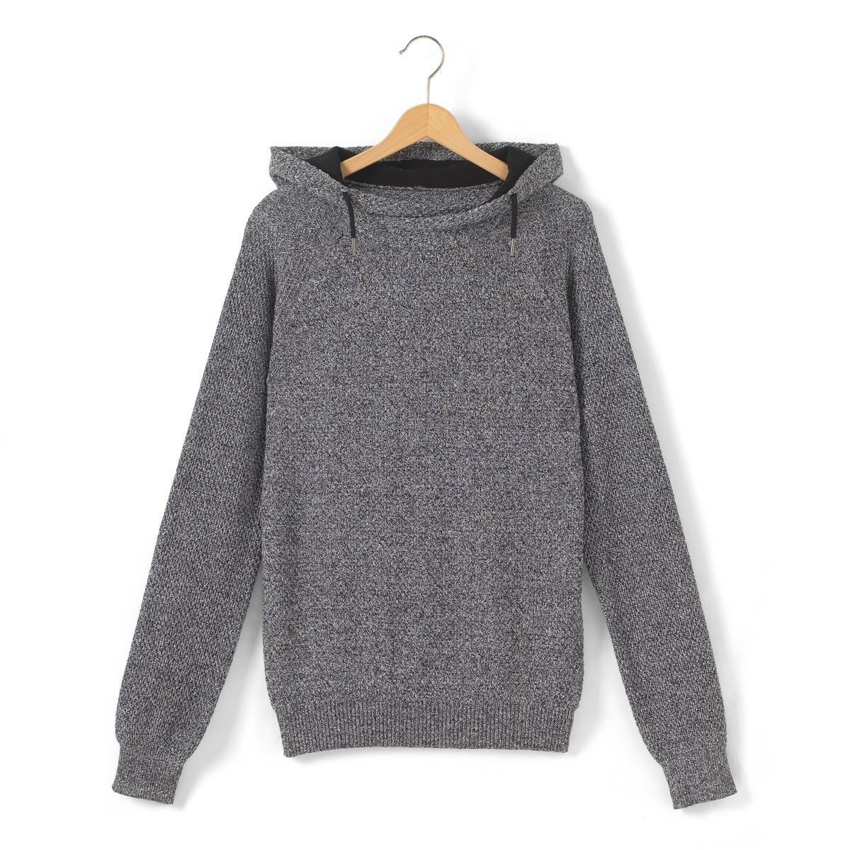 Пуловер с капюшоном, для 10-16 лет