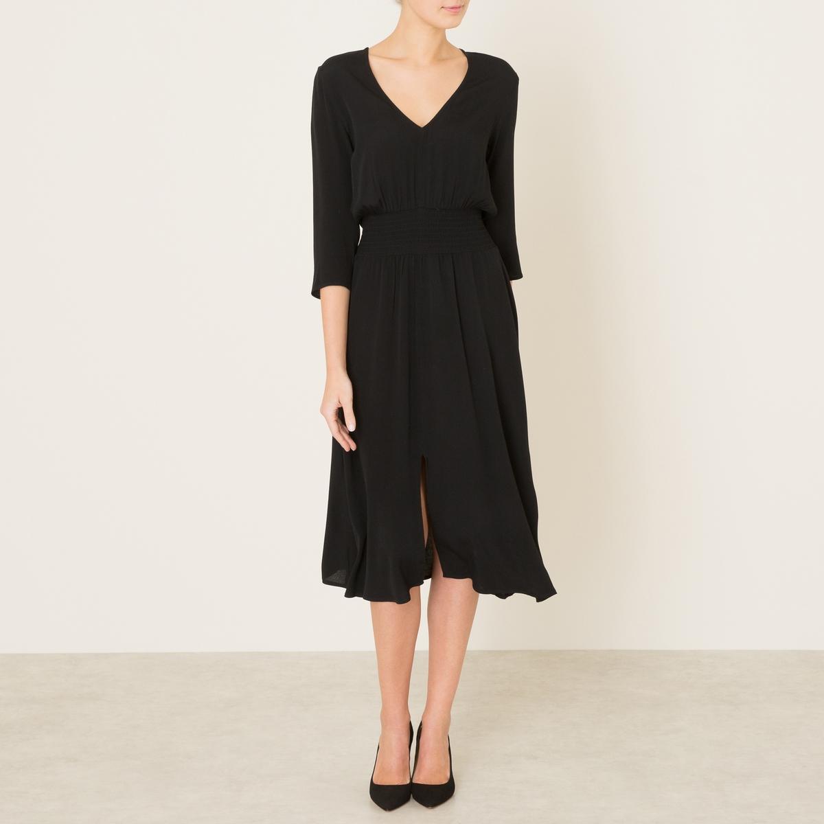 Платье LUCIAСостав и описание    Материал : 100% вискоза   Марка : BA&amp;SH<br><br>Цвет: черный