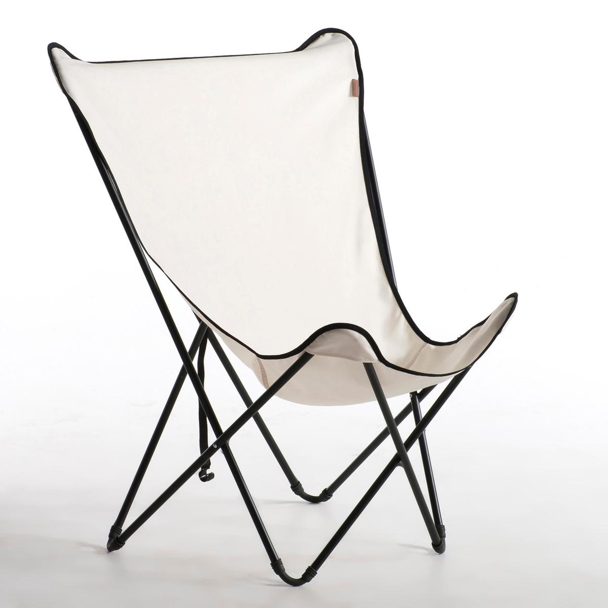 Кресло складное LafumaСкладное кресло POPUP Lafuma. Благадаря размерам с этом кресле удобно сидеть как в помещении, так и на открытом воздухе.Стальной каркас с чёрным лакированным покрытием. Детали соединения из пропитанного эластомера (эксклюзивный патент Lafuma) обеспечивают автоматическое раскладывание кресла. Полотно, 100% полиэстера, снимается благодаря системе велкро (стирка при 30°). Отделка шнуром чёрного цвета. Ремень для фиксации кресла в сложенном состоянии. Размер : Д.80 x Г.75  x В.97 см (в сложенном виде: 15 x 15 x 120 см).<br><br>Цвет: белый/черный