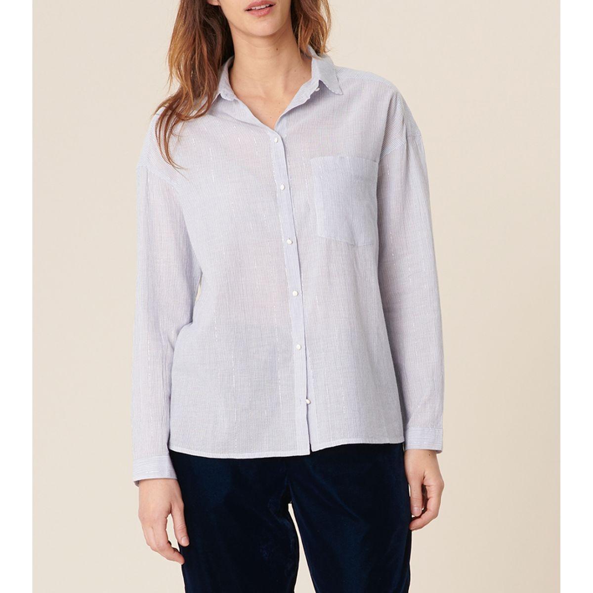 Chemise rayée avec fil irisé NAOKI