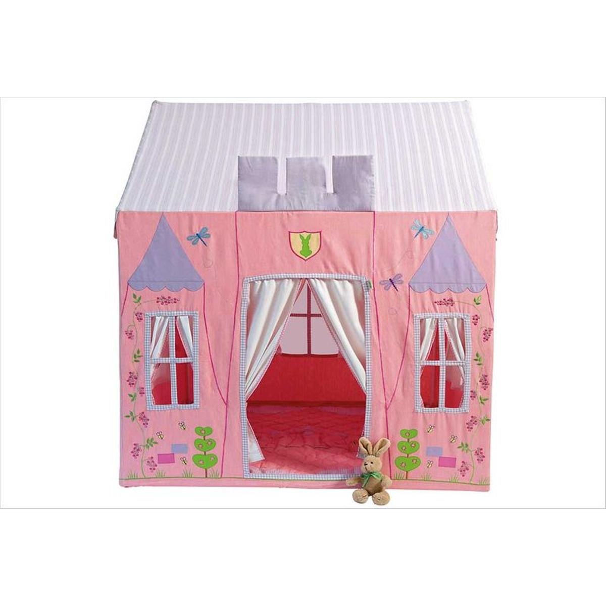 Petit château de princesse en tissu