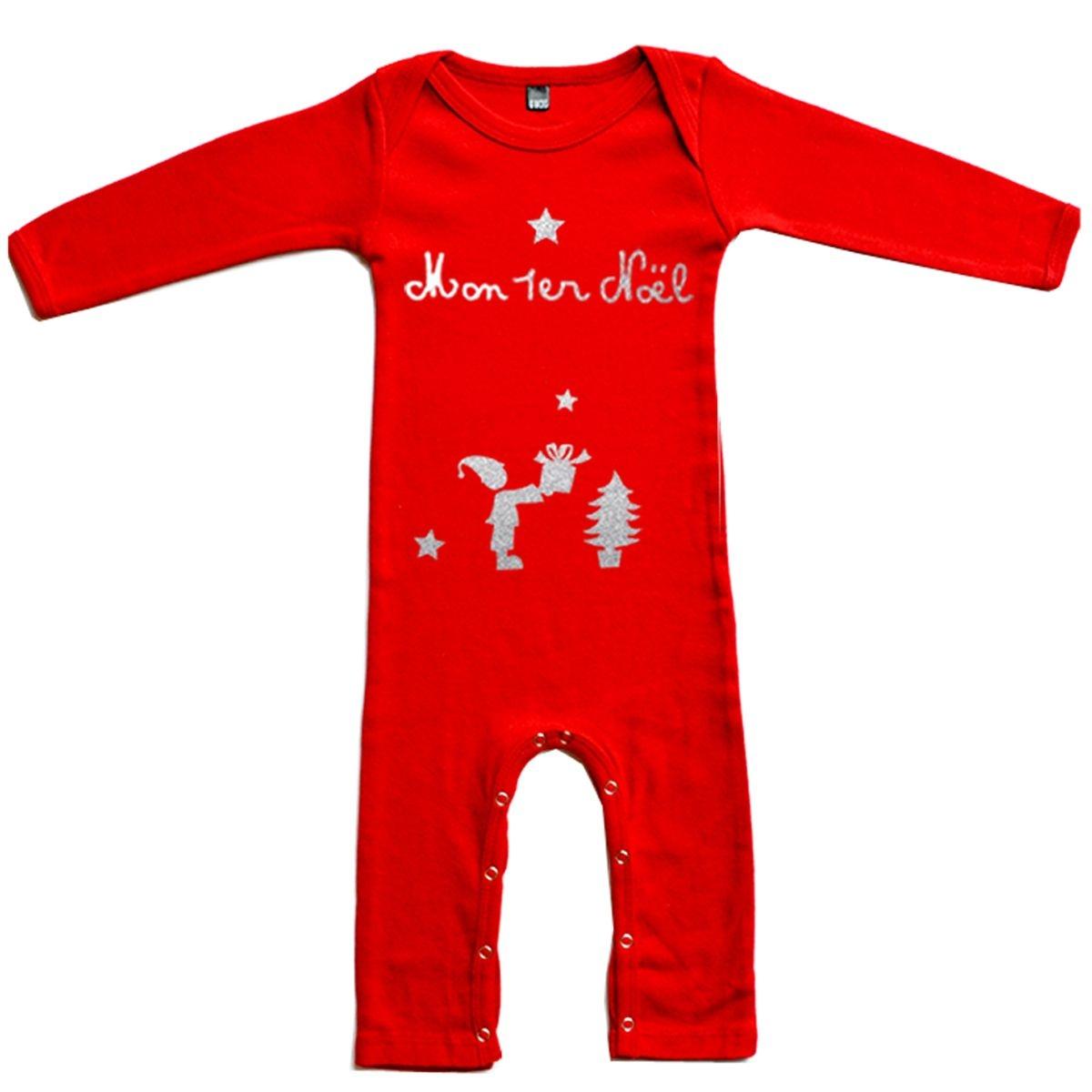 Pyjama bébé Noël en coton manche longue