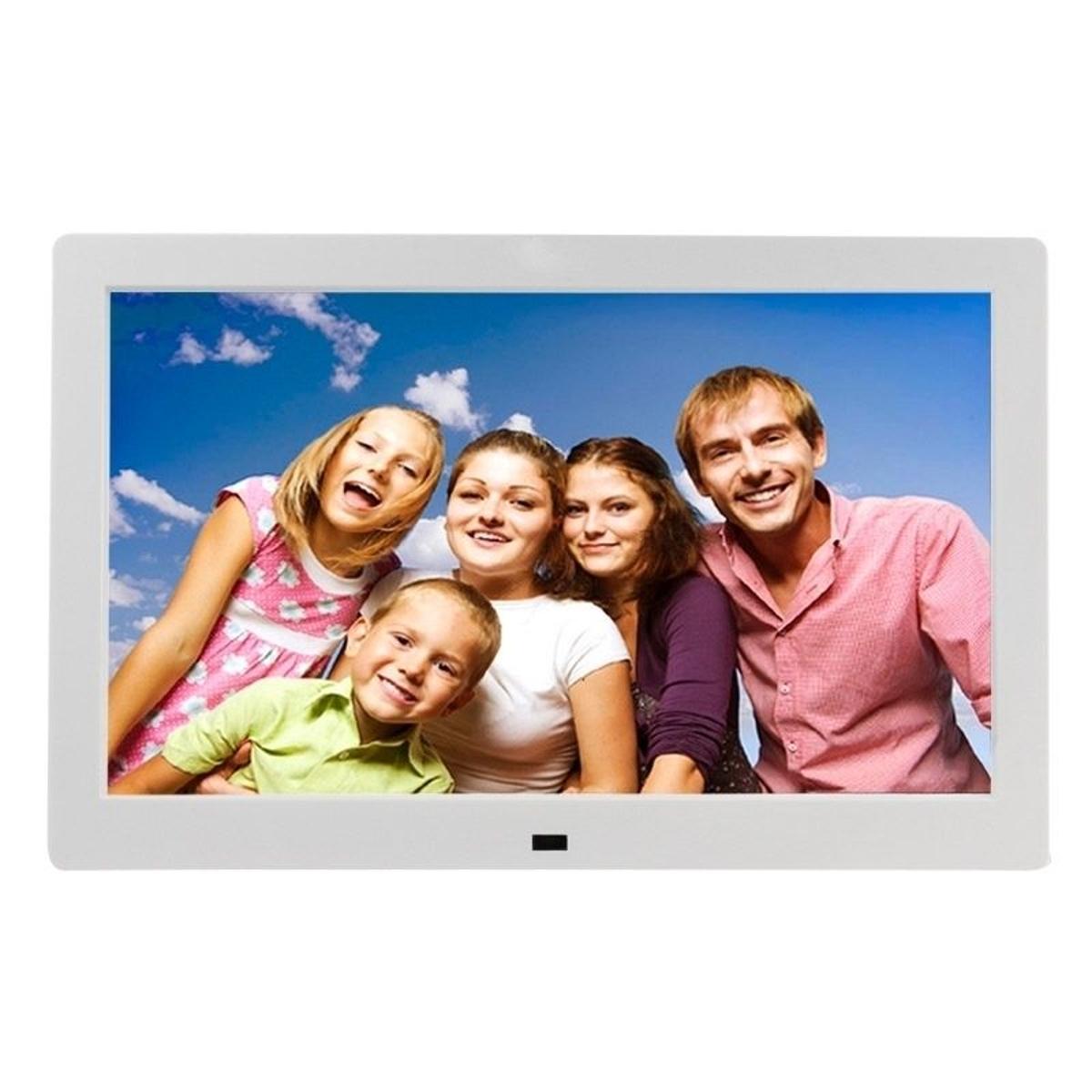Cadre Photo Numérique Ecran LED 10' Lecteur Multimedia MP3 Video Blanc