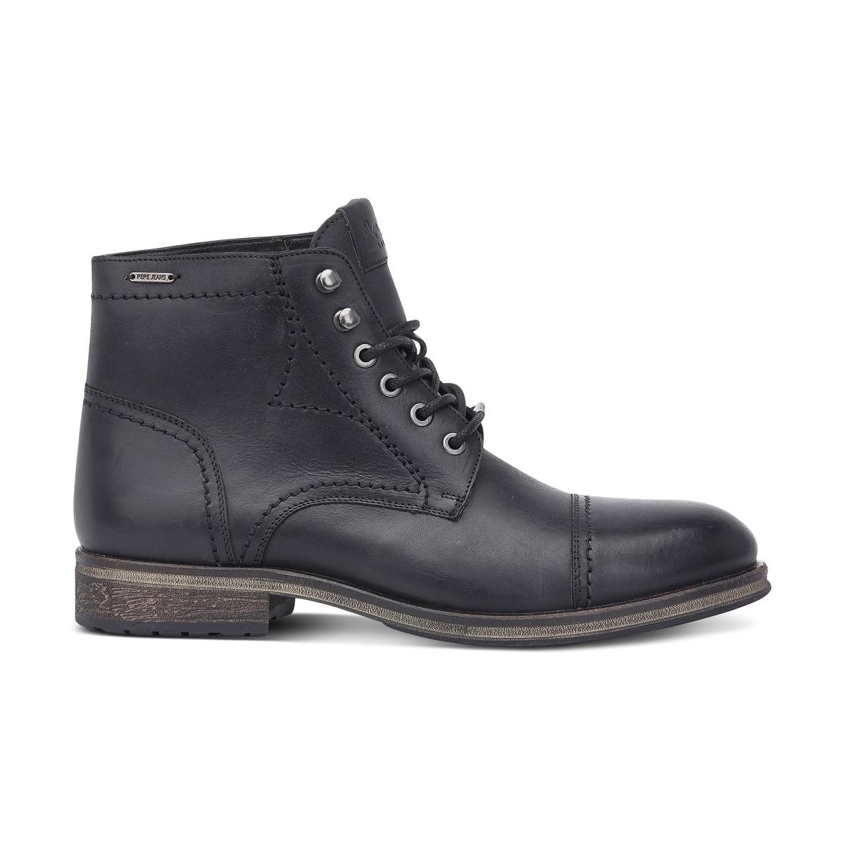 Ботинки BalticПодкладка : Кожа    Стелька: Кожа   Подошва: КаучукФорма каблука : Плоский каблук   Мысок : ЗакругленныйЗастежка : Шнуровка.<br><br>Цвет: черный<br>Размер: 44
