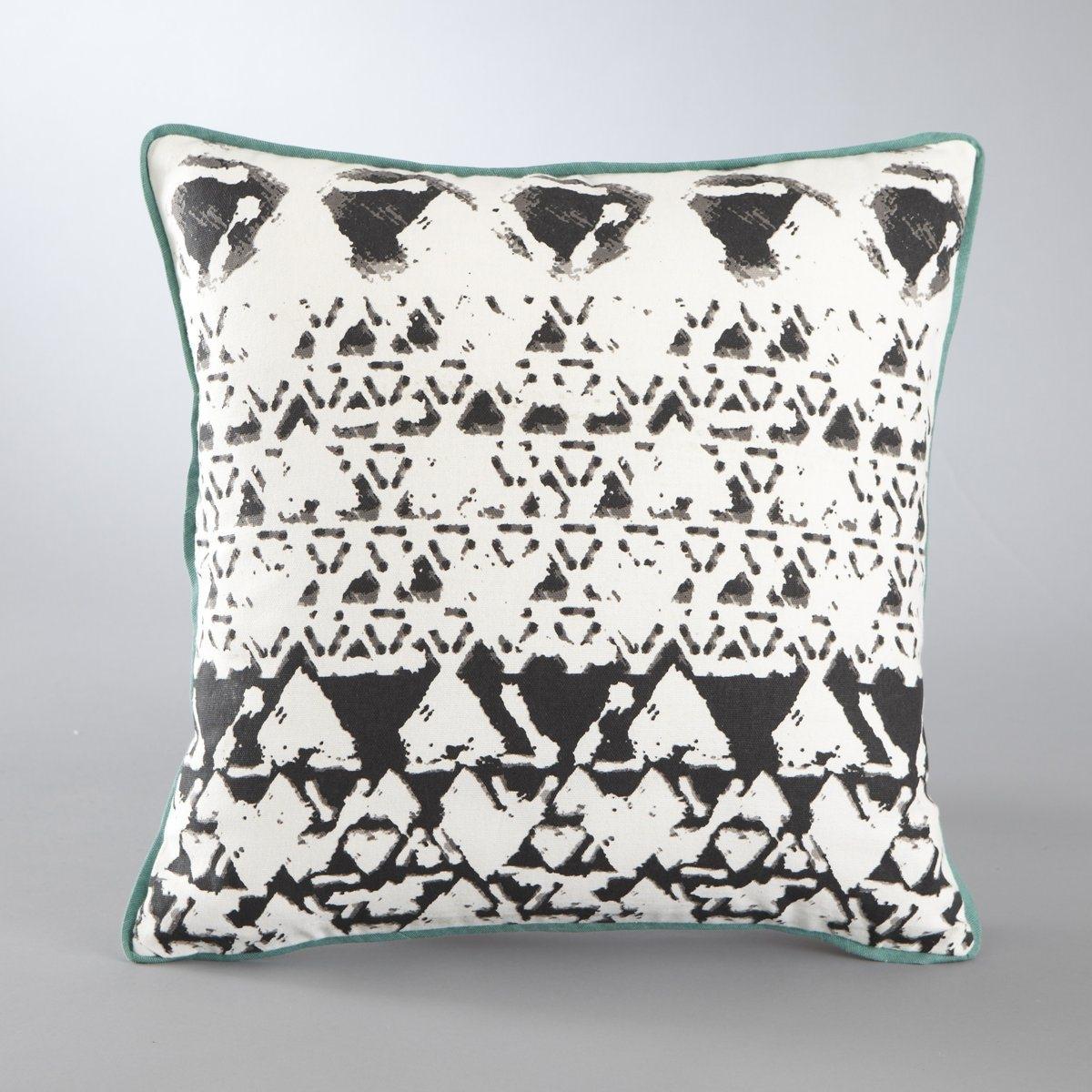 Чехол для подушки с рисунком, IjaХарактеристики чехла для подушки  :100% хлопка<br><br>Цвет: черный/экрю
