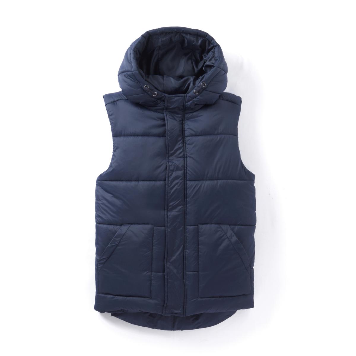 Куртка без рукавов с капюшоном, 10-16 лет