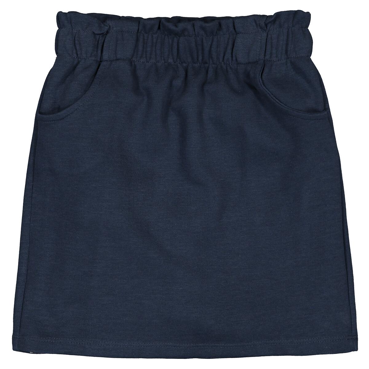 Фото - Юбка LaRedoute Прямая на эластичном поясе 3-12 лет 4 года - 102 см синий юбка laredoute прямая из легкого денима 3 12 лет 3 года 94 см синий