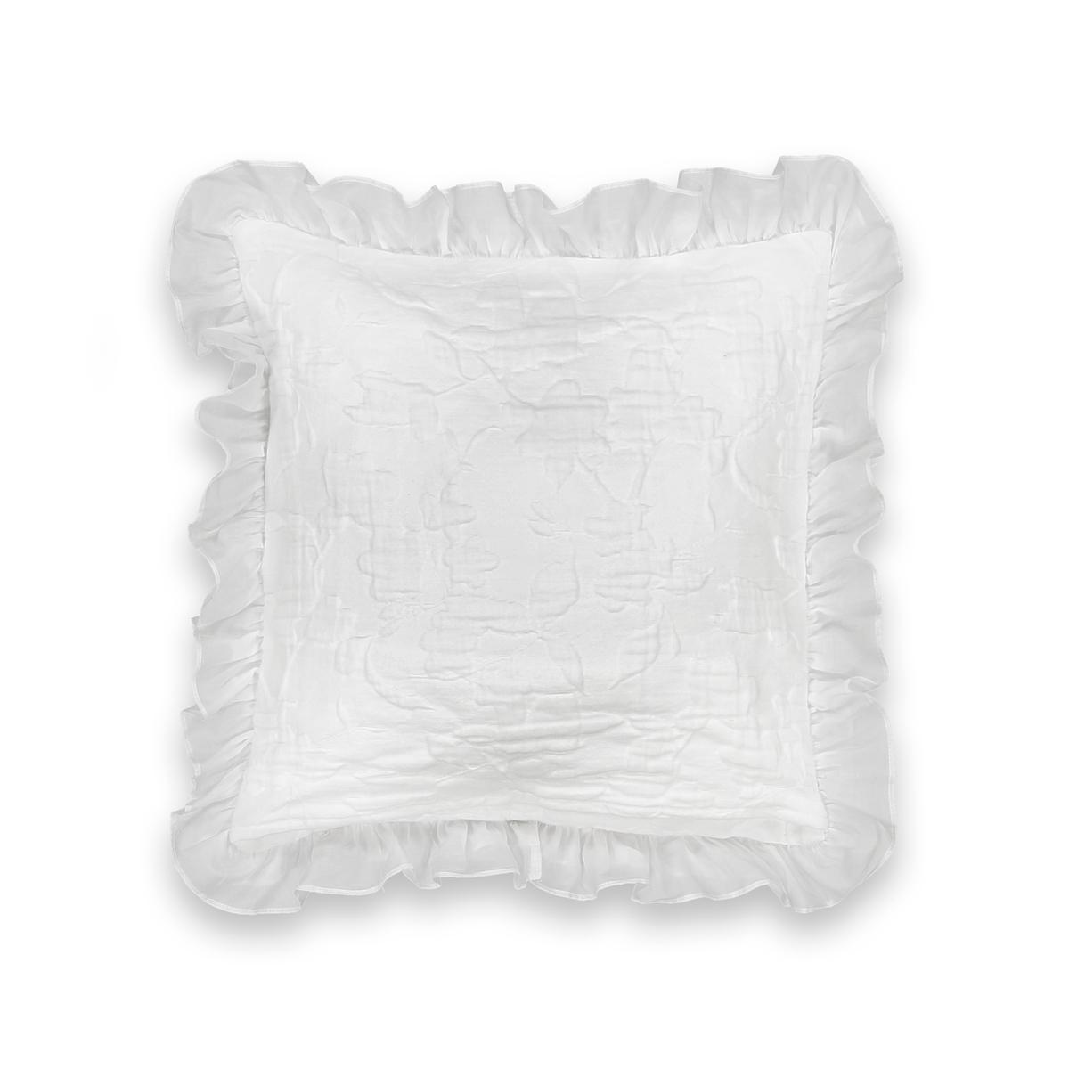 Чехол La Redoute На подушку или наволочка JARA 65 x 65 см белый чехол la redoute для подушки или наволочка однотонного цвета с помпонами riad 65 x 65 см розовый