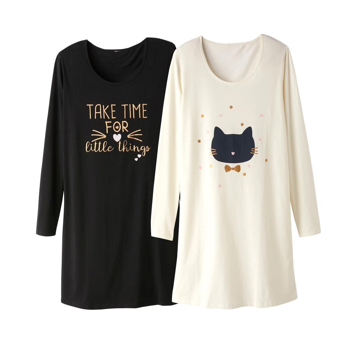 2 рубашки ночные с рисунком
