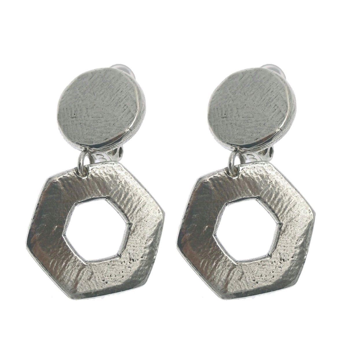Clip pendant métal argenté collection COLMENA