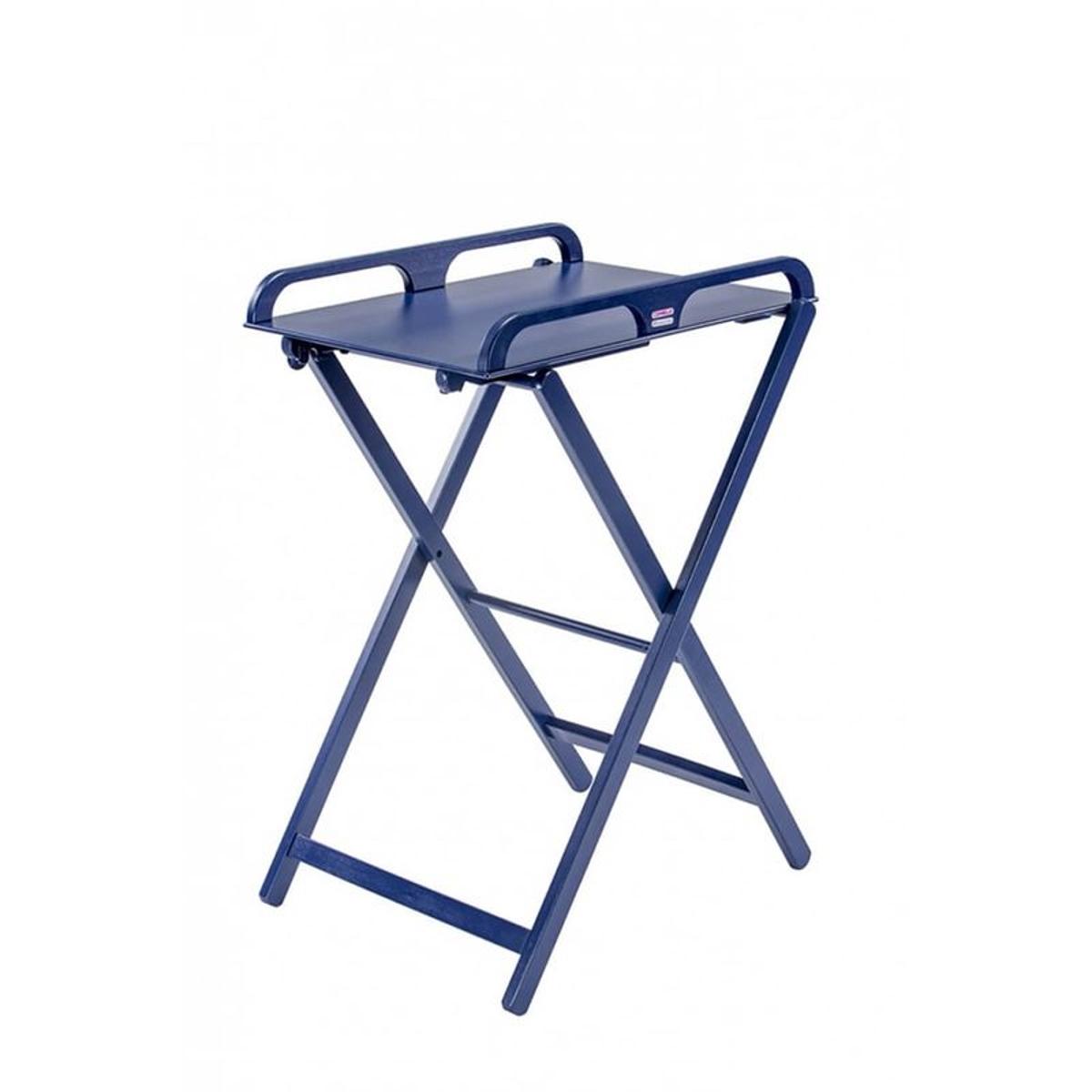 Table à langer pliante Jade laqué bleu