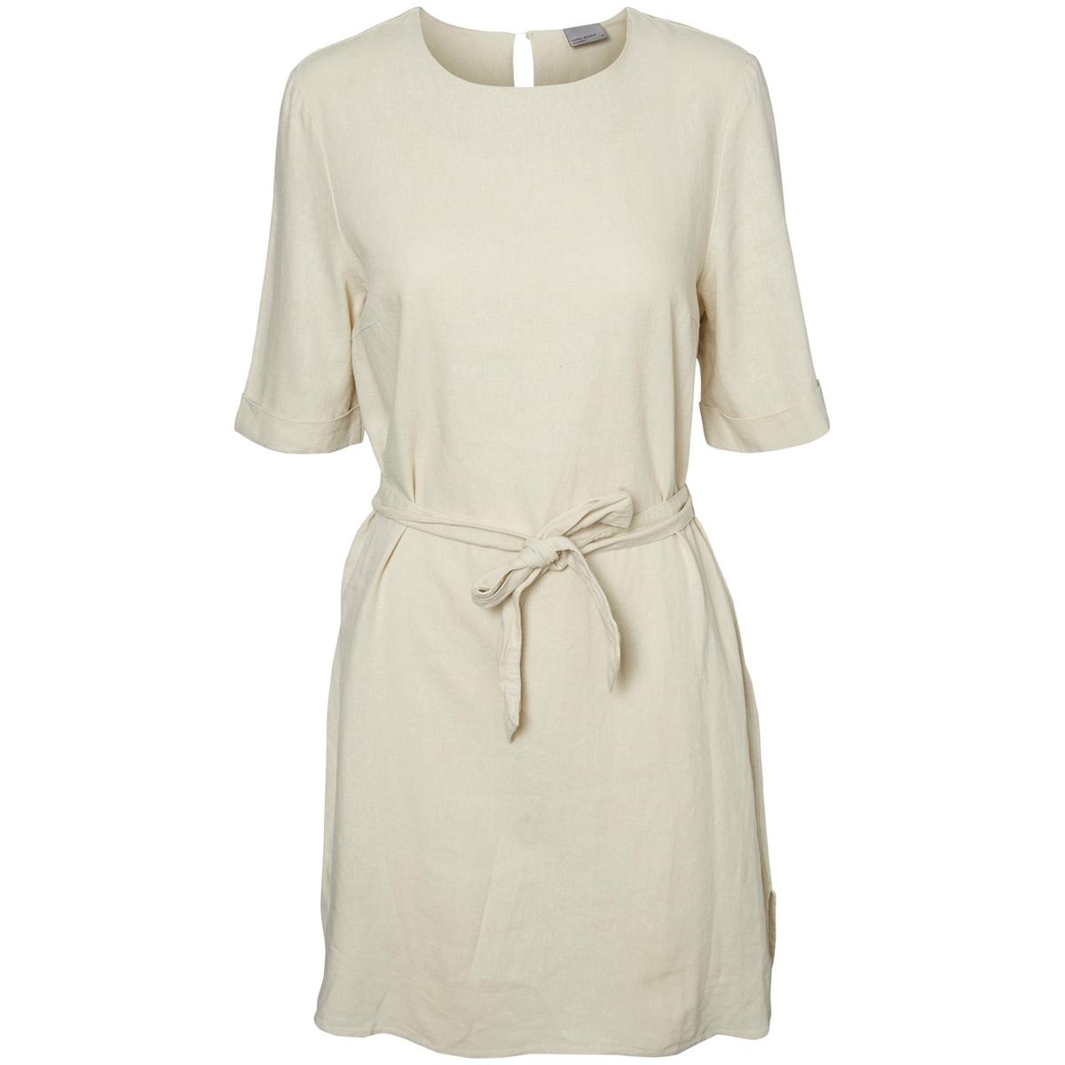 Платье с короткими рукавами и завязками